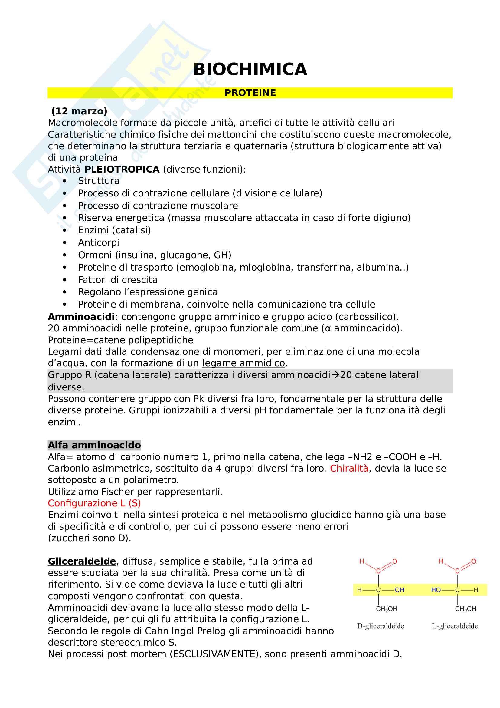 Biochimica appunti