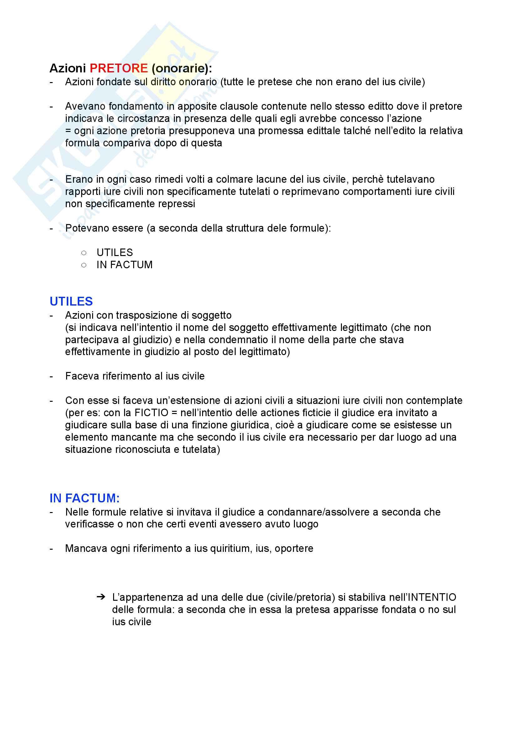 Processo diritto romano (legis actiones e formulare) Pag. 16