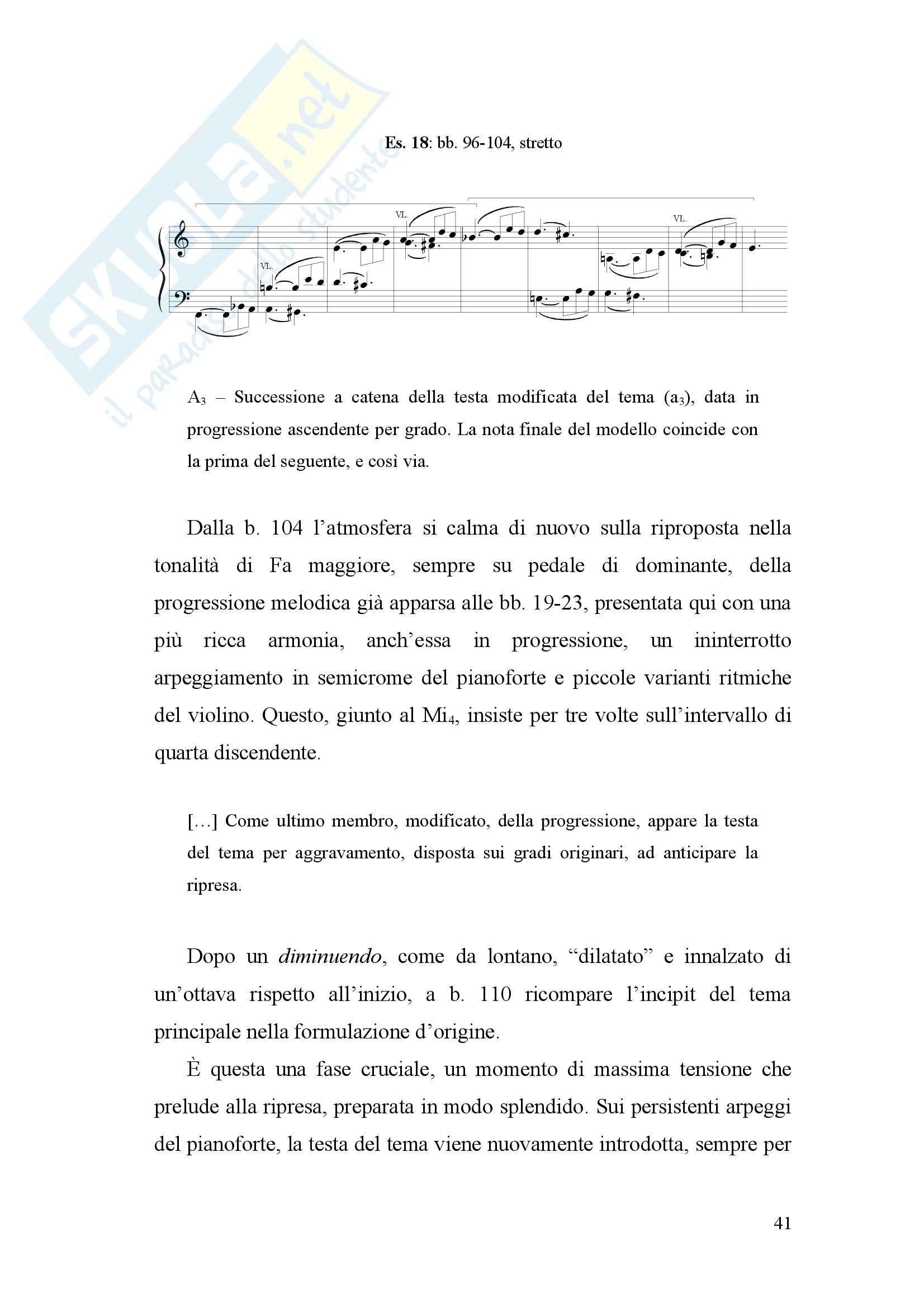 Sonata op 105 per pianoforte e violino di Schumann, Armonia Pag. 41