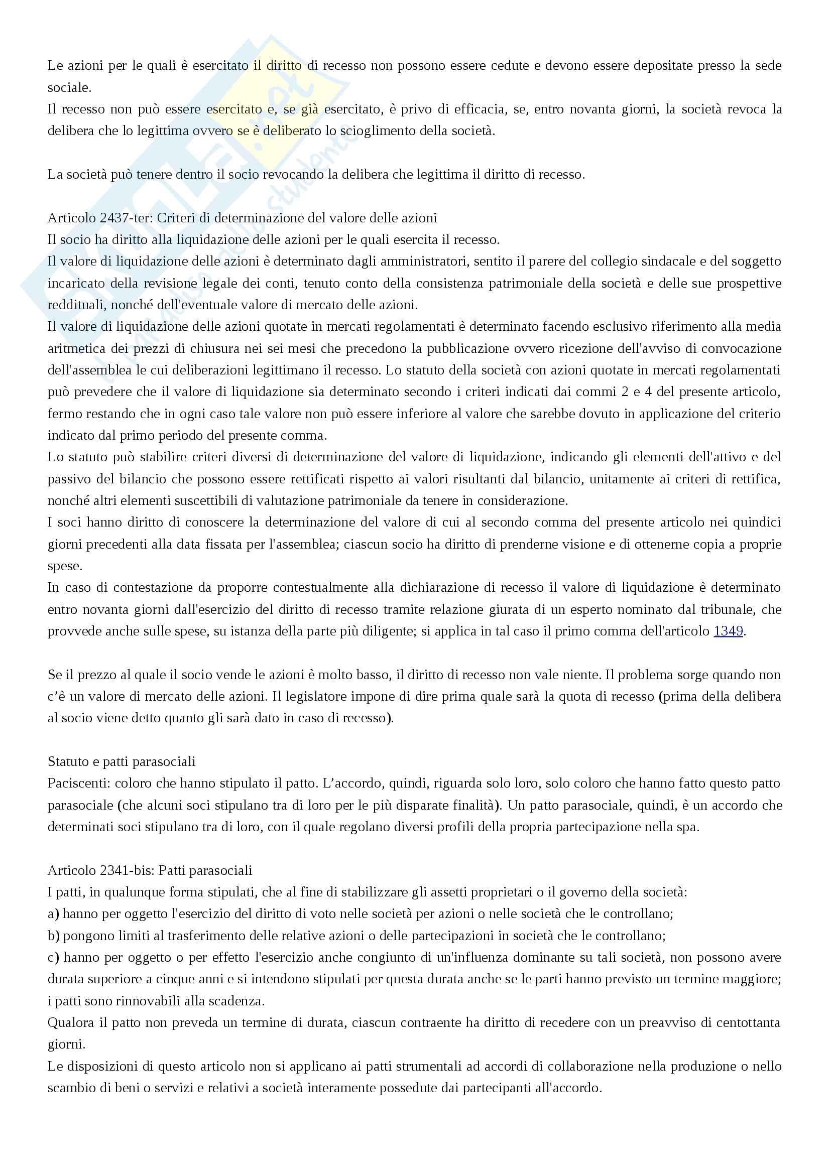 Società Per Azioni - Diritto commerciale Pag. 6