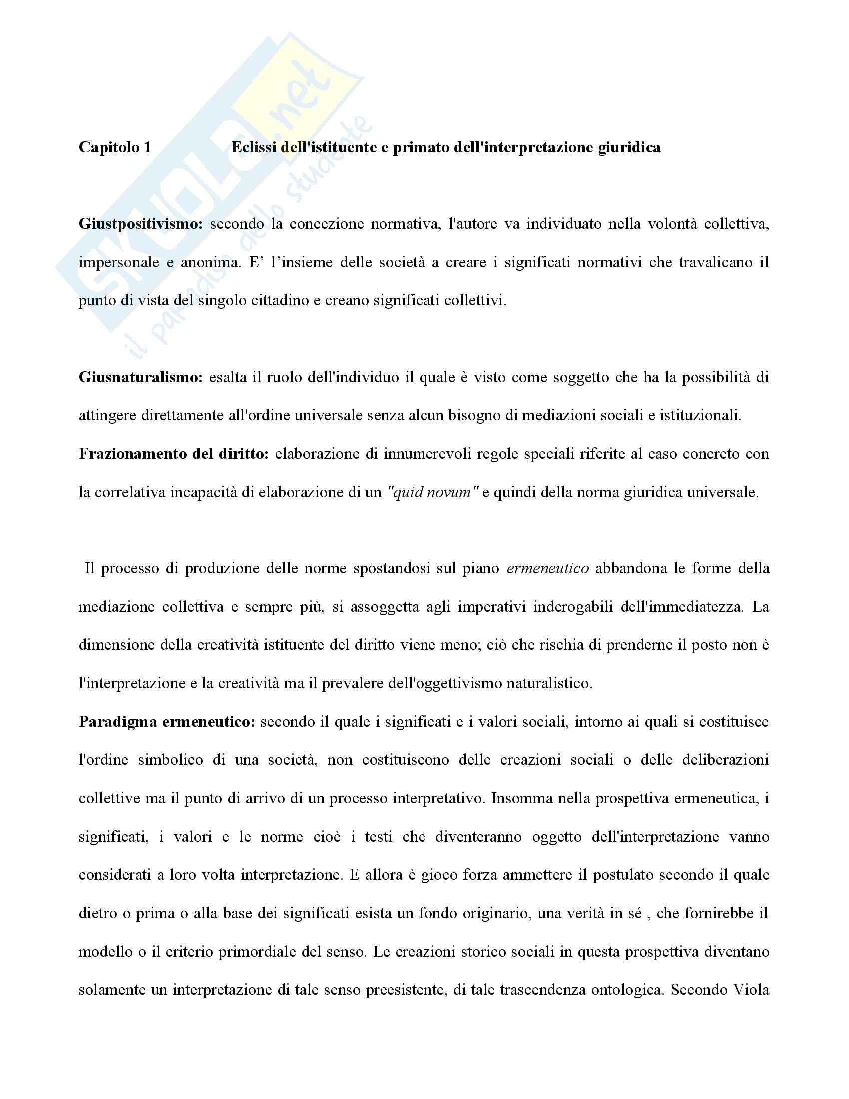 appunto F. Ciaramelli Filosofia del diritto
