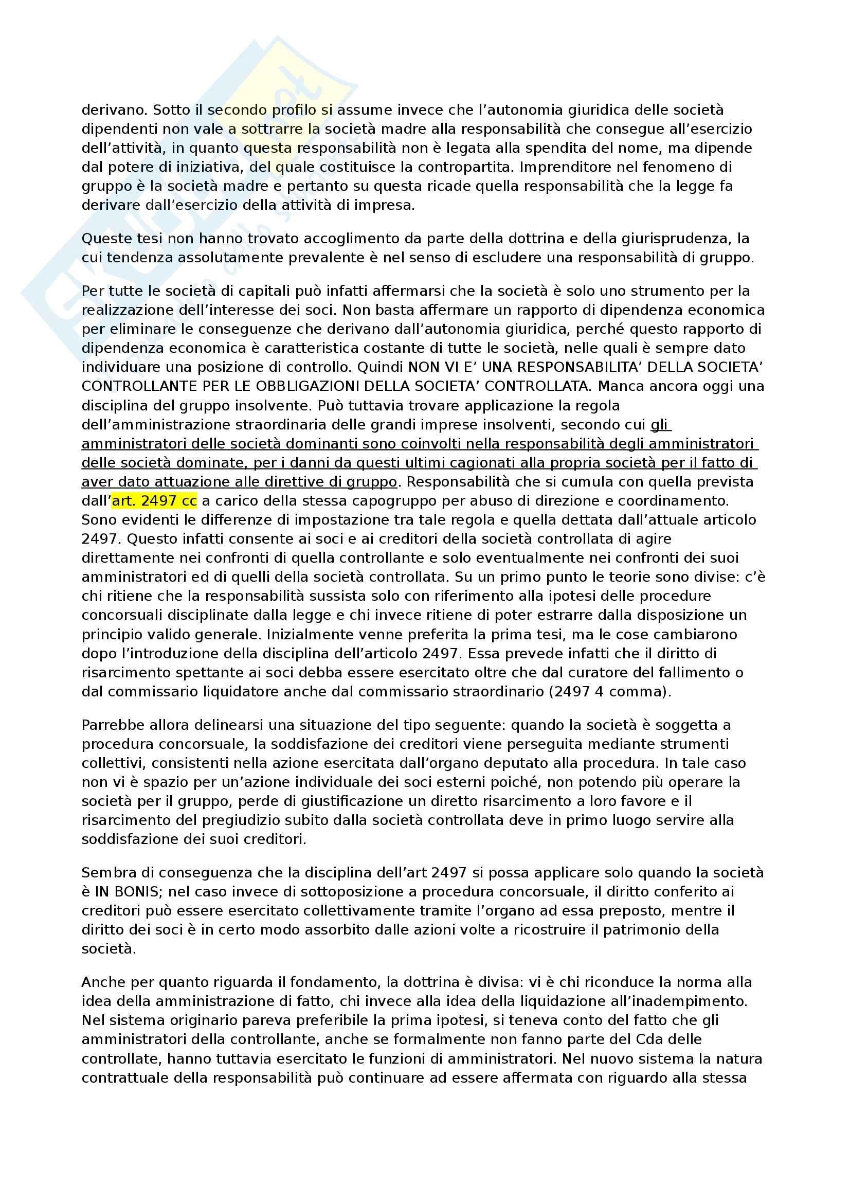 Diritto commerciale - gruppi di società Pag. 6