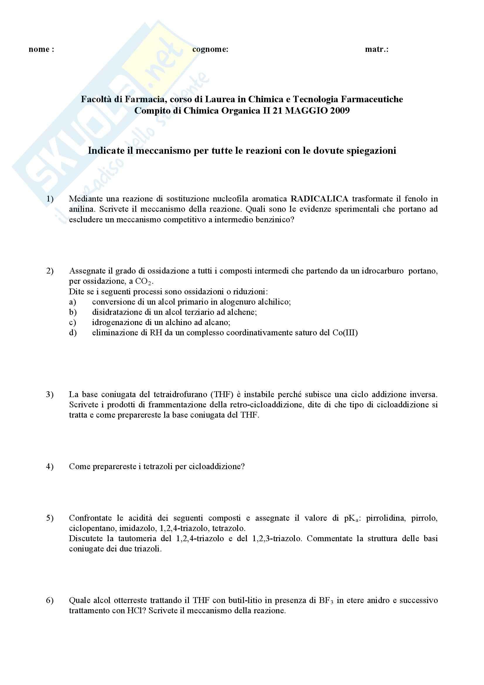 Chimica organica II - Esercizi Pag. 31