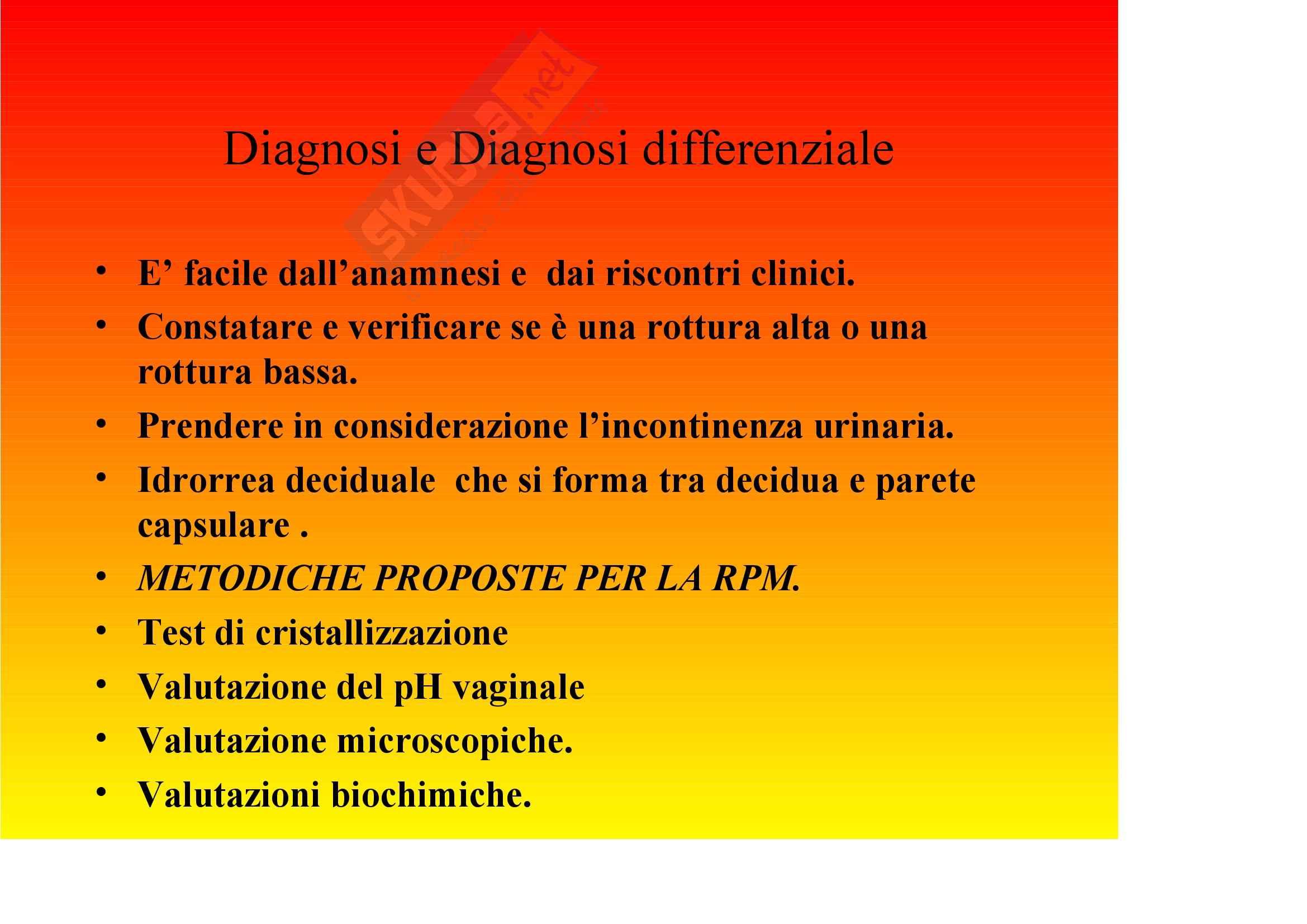 Ginecologia e ostetricia – Rottura prematura delle membrane Pag. 2