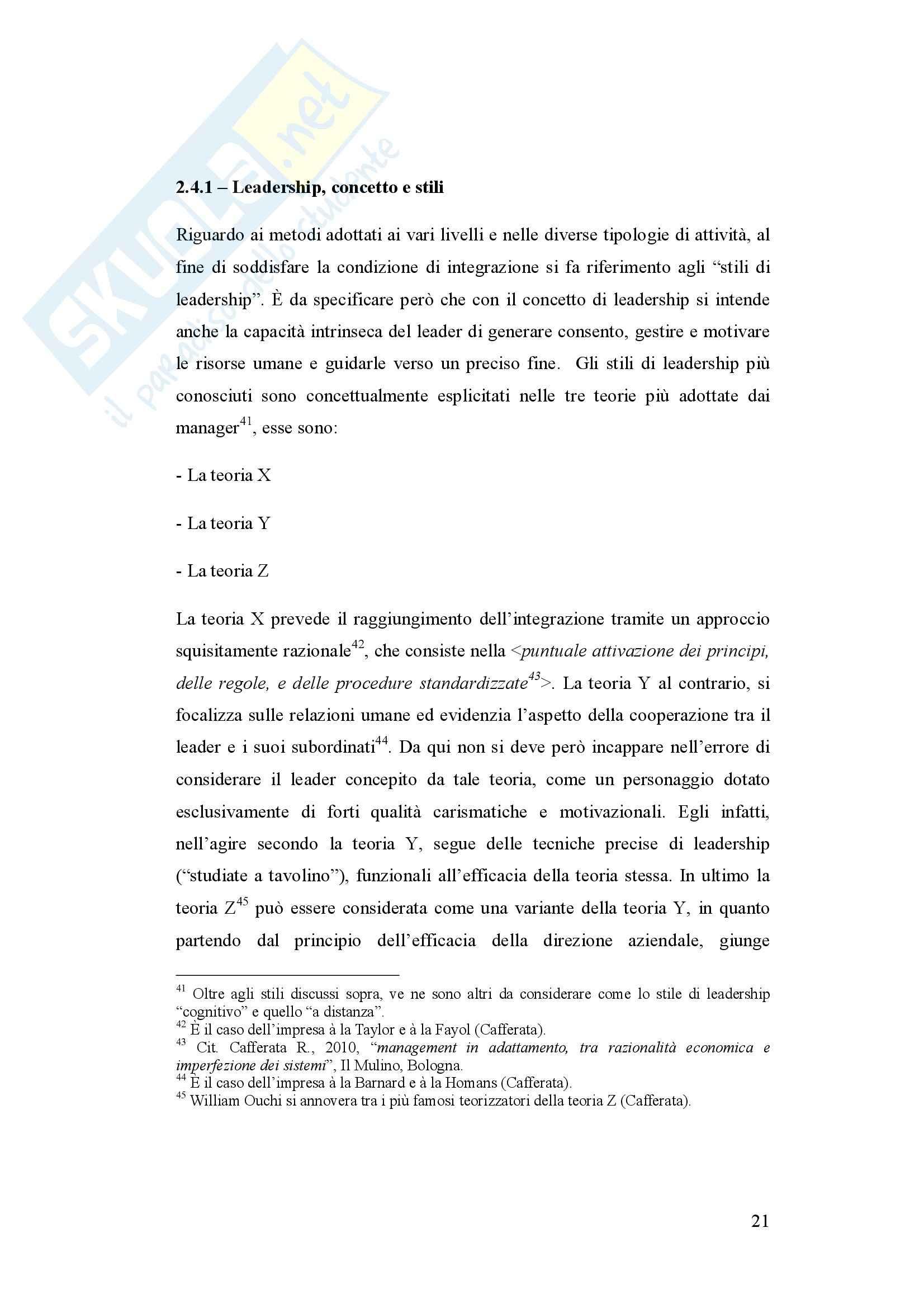 Condizioni di sistemicità e adattamento nella piccola impresa edile - Tesi Pag. 21