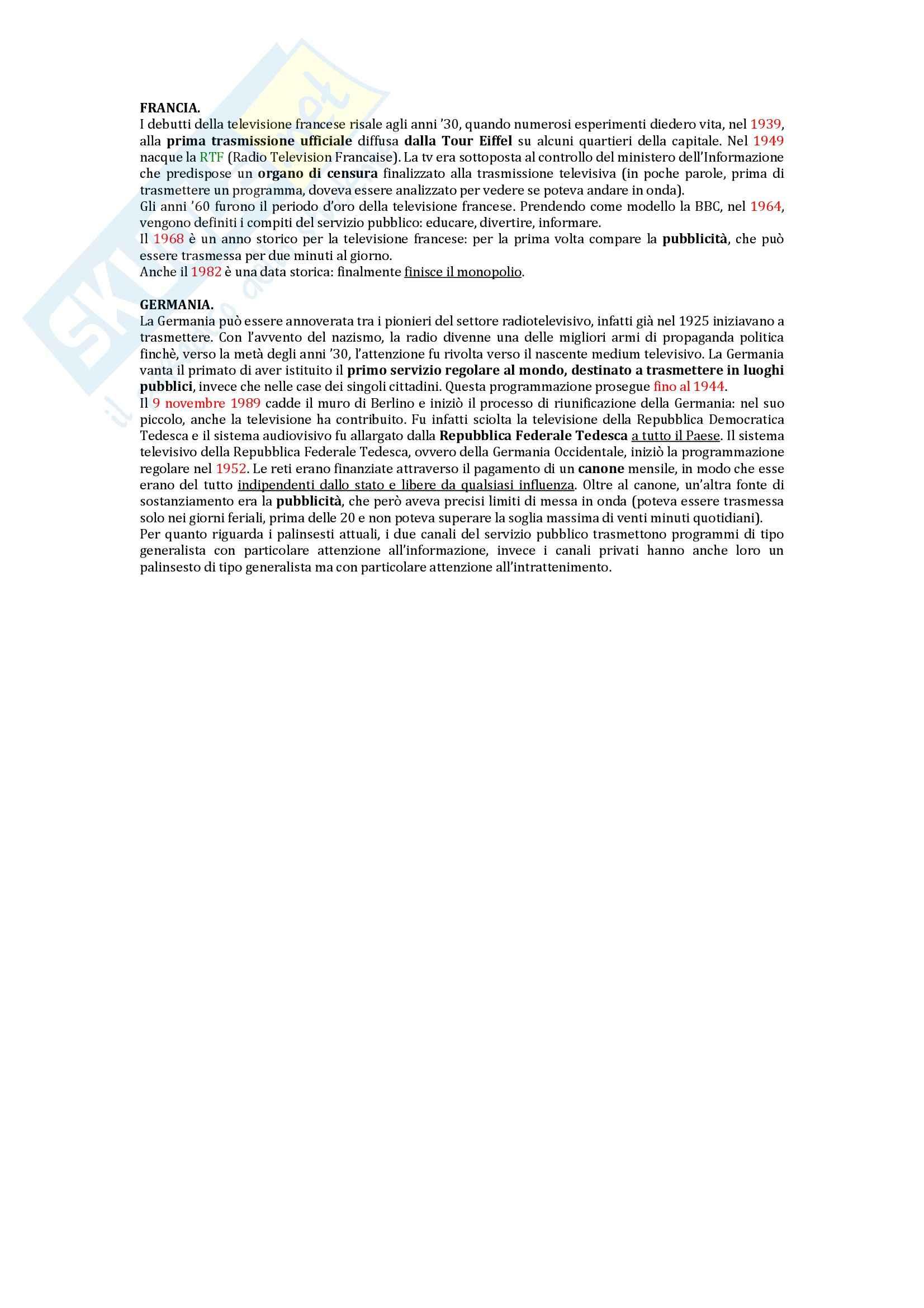 Riassunto esame Storia della Radio e della Televisione, prof. Innocenti, libro consigliato Che Cos'è la Televisione di Grasso e Scaglioni Pag. 16