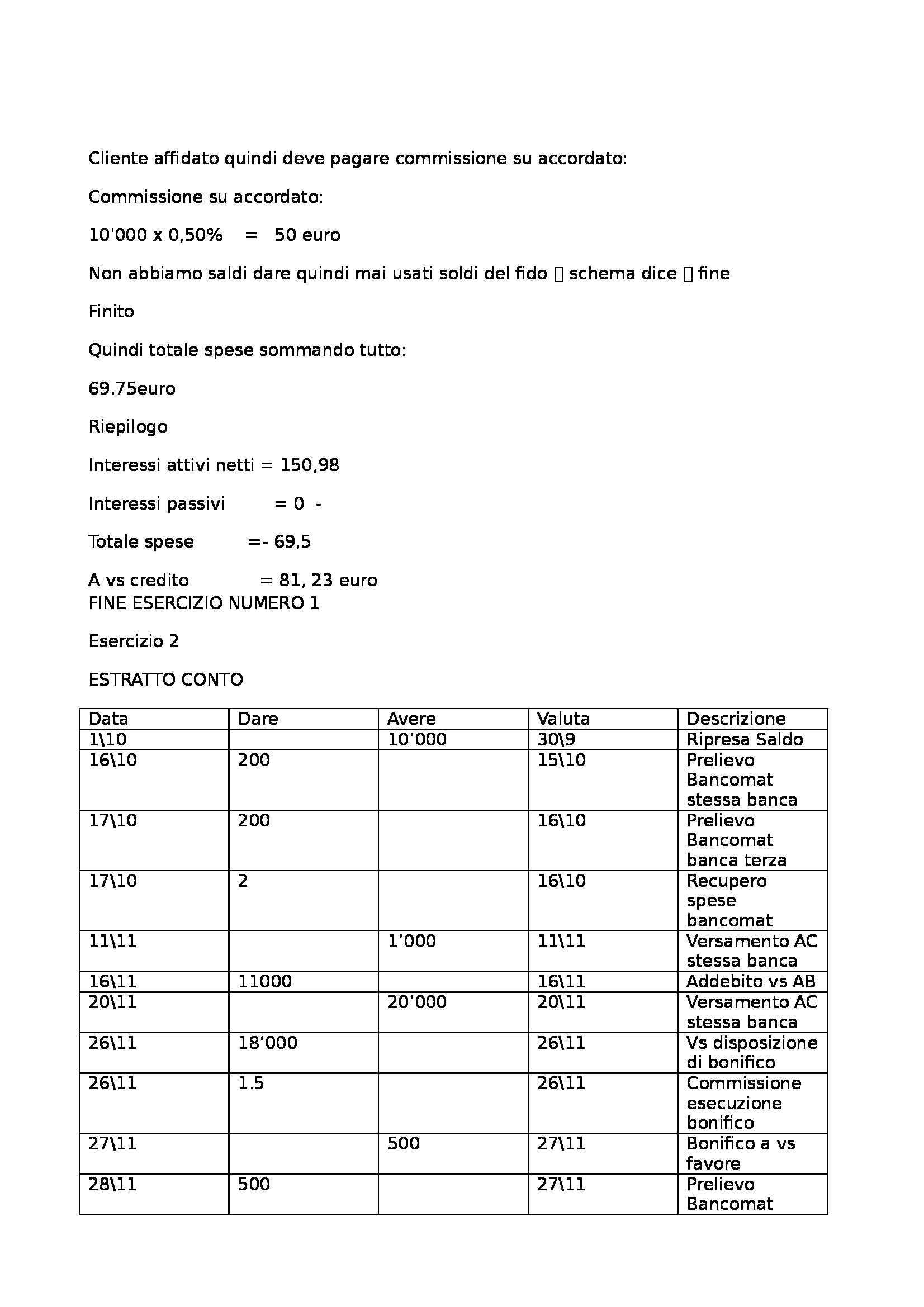 Tutte lezioni esercitazioni  Economia delle aziende di credito, Prova intermedia Pag. 6