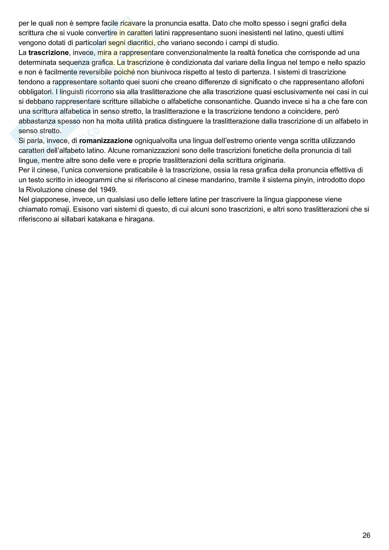 Riassunto esame linguistica generale, prof. Keidan, libro consigliato Linguistica generale e storica, volume 1, Keidan e Ciancaglini Pag. 26
