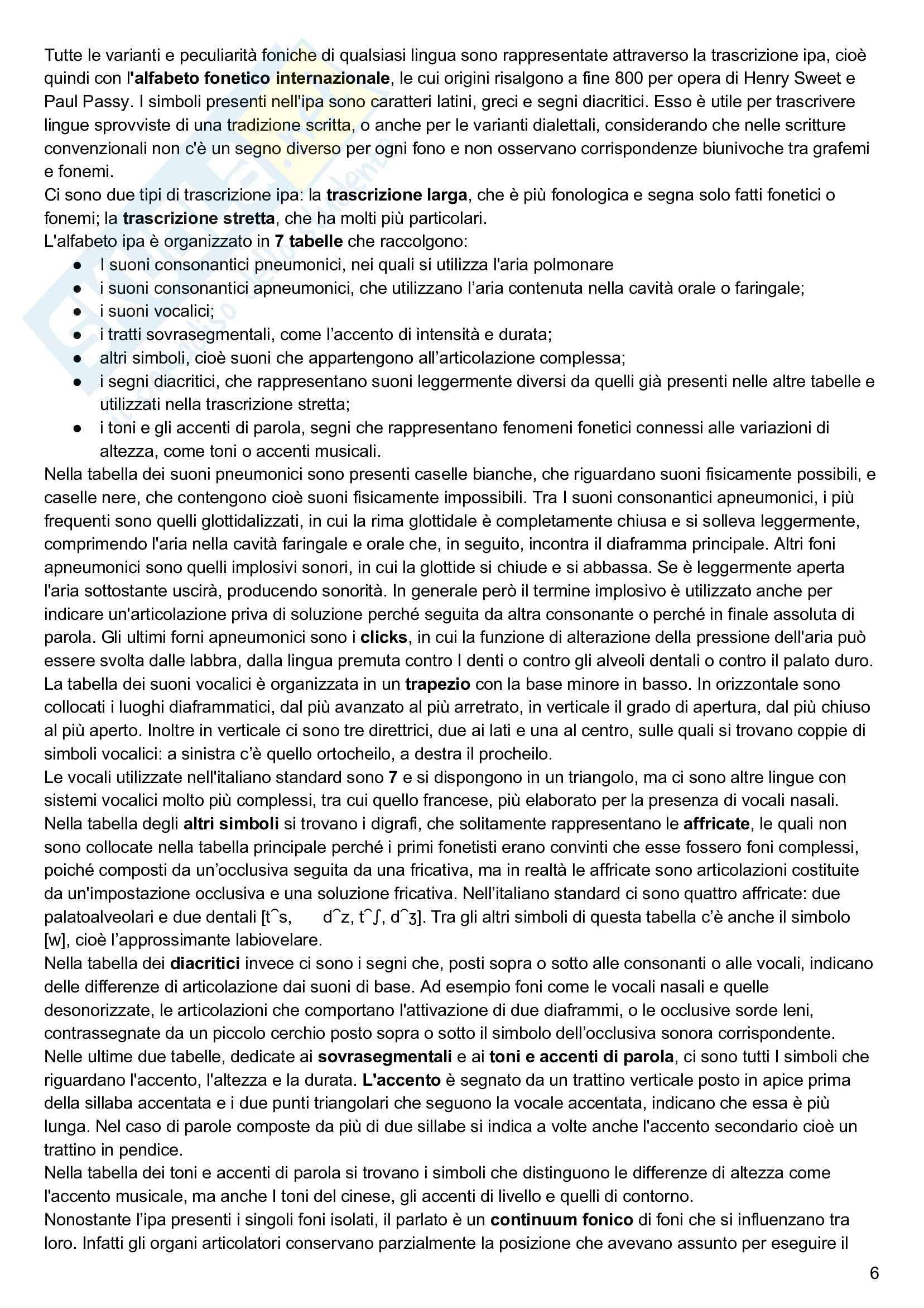 Riassunto esame linguistica generale, prof. Keidan, libro consigliato Linguistica generale e storica, volume 1, Keidan e Ciancaglini Pag. 6