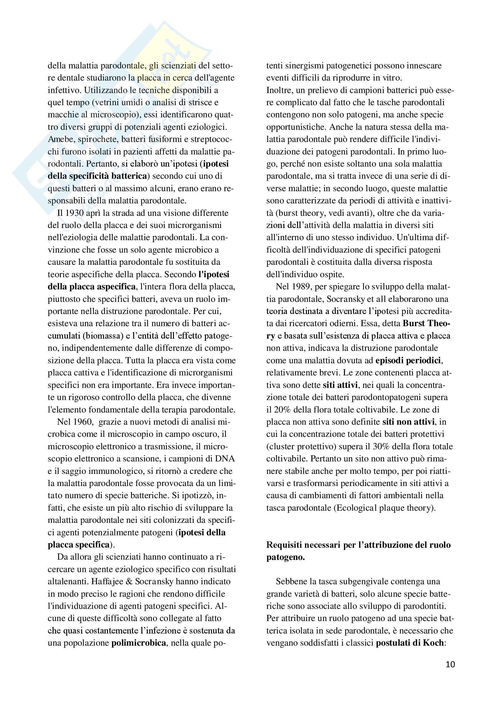 Microbiologia odontoiatrica Pag. 11