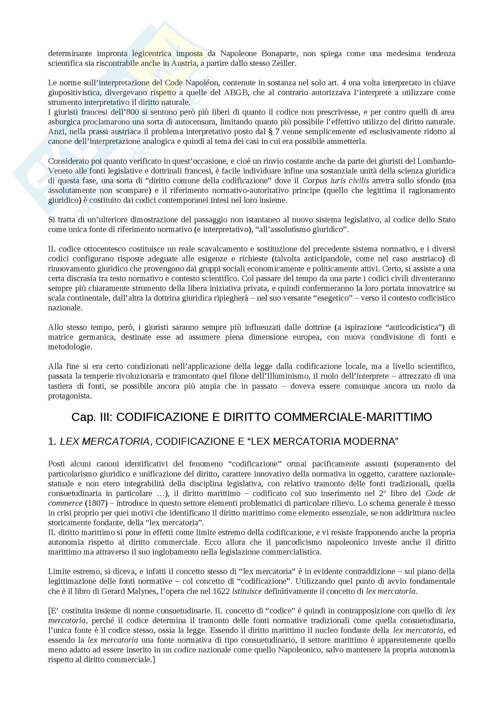 Riassunto esame storia delle codificazioni, prof.  Ferrante, libro consigliato Codificazione e cultura giuridica, Ferrante Pag. 26