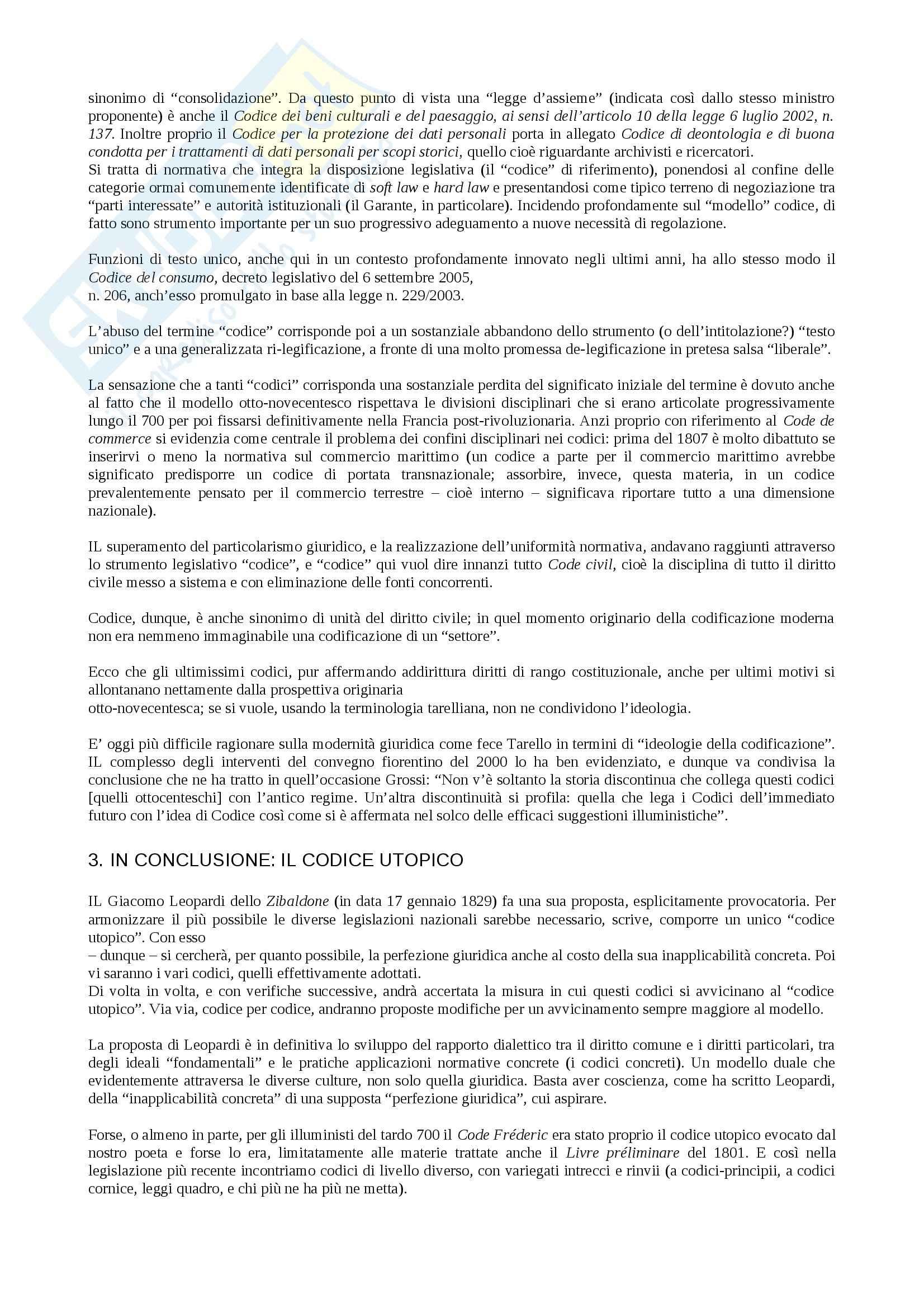 Riassunto esame storia delle codificazioni, prof.  Ferrante, libro consigliato Codificazione e cultura giuridica, Ferrante Pag. 56
