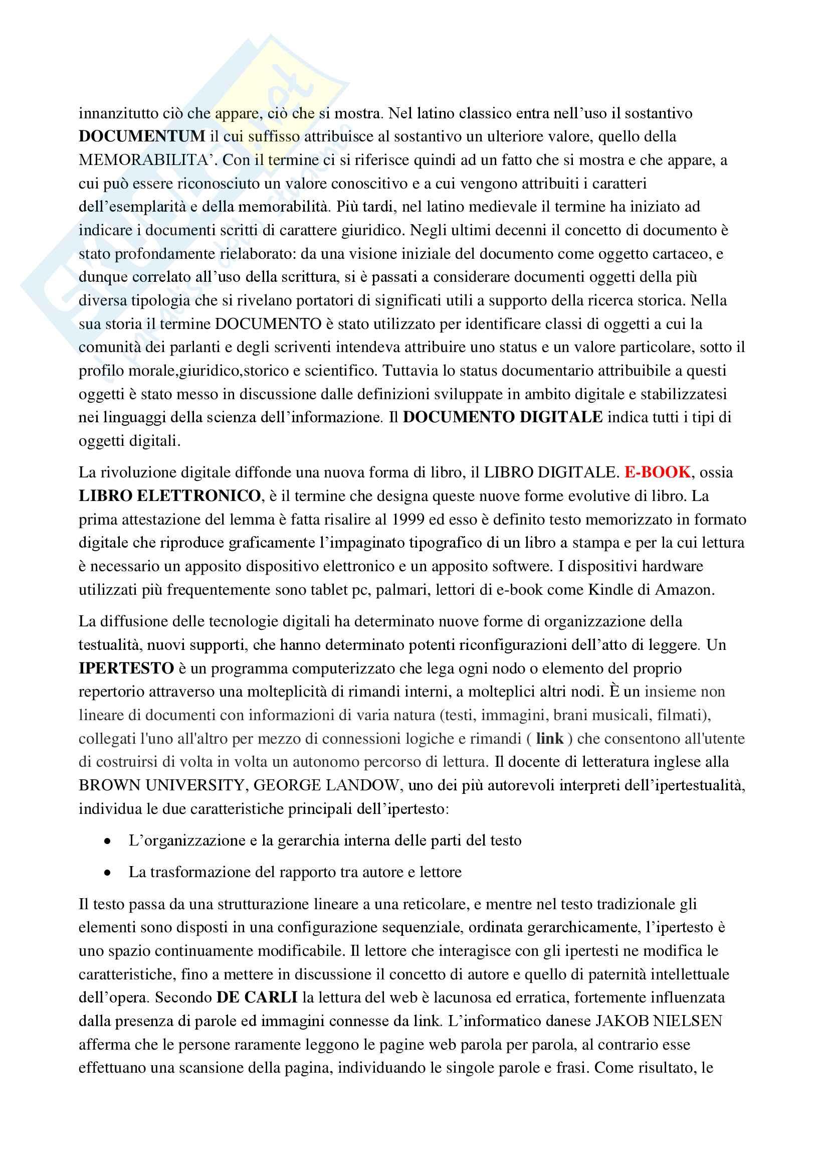 Riassunto esame Bibliografia, prof Montecchi, libro consigliato Le dimensioni della Bibliografia di Maurizio Vivarelli Pag. 16
