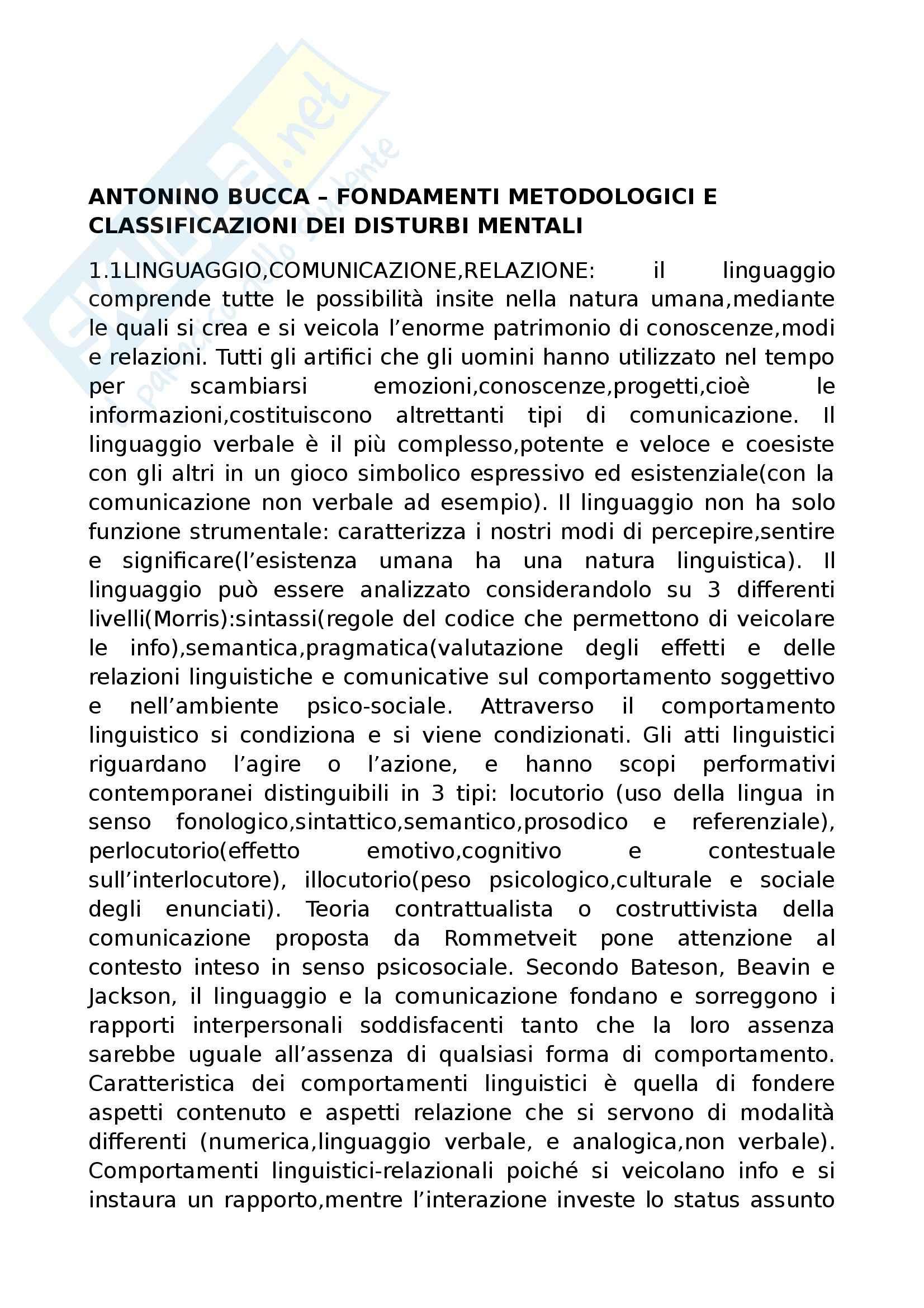 Riassunto esame Psicopatologia del Linguaggio, prof. Cardella, libro consigliato Trattato di Psicopatologia del Linguaggio, Pennisi, Bucca, Falzone