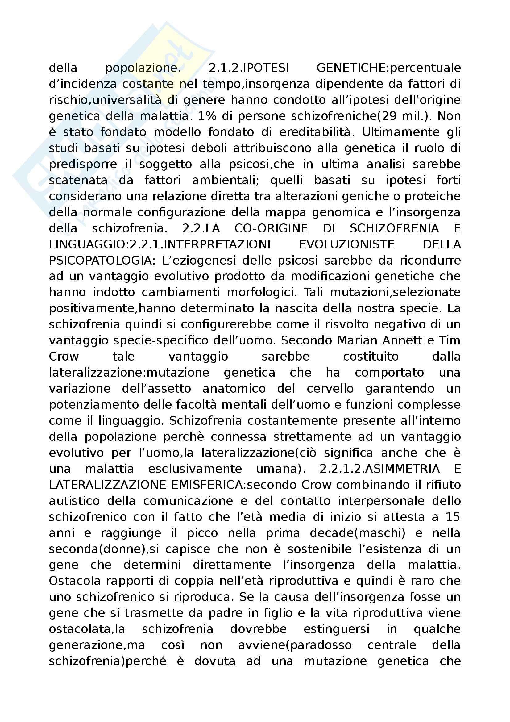 Riassunto esame Psicopatologia del Linguaggio, prof. Cardella, libro consigliato Trattato di Psicopatologia del Linguaggio, Pennisi, Bucca, Falzone Pag. 21