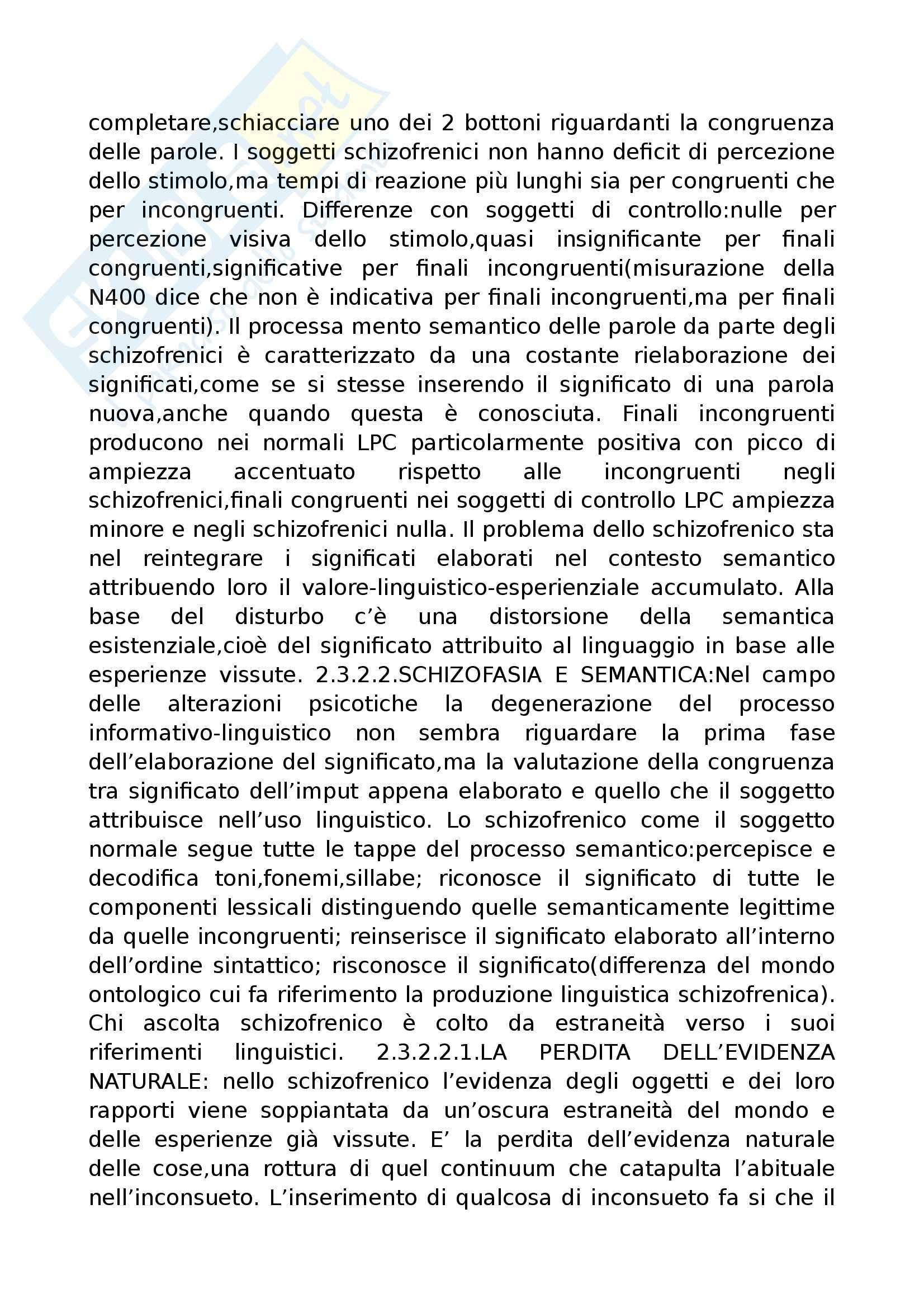 Riassunto esame Psicopatologia del Linguaggio, prof. Cardella, libro consigliato Trattato di Psicopatologia del Linguaggio, Pennisi, Bucca, Falzone Pag. 36