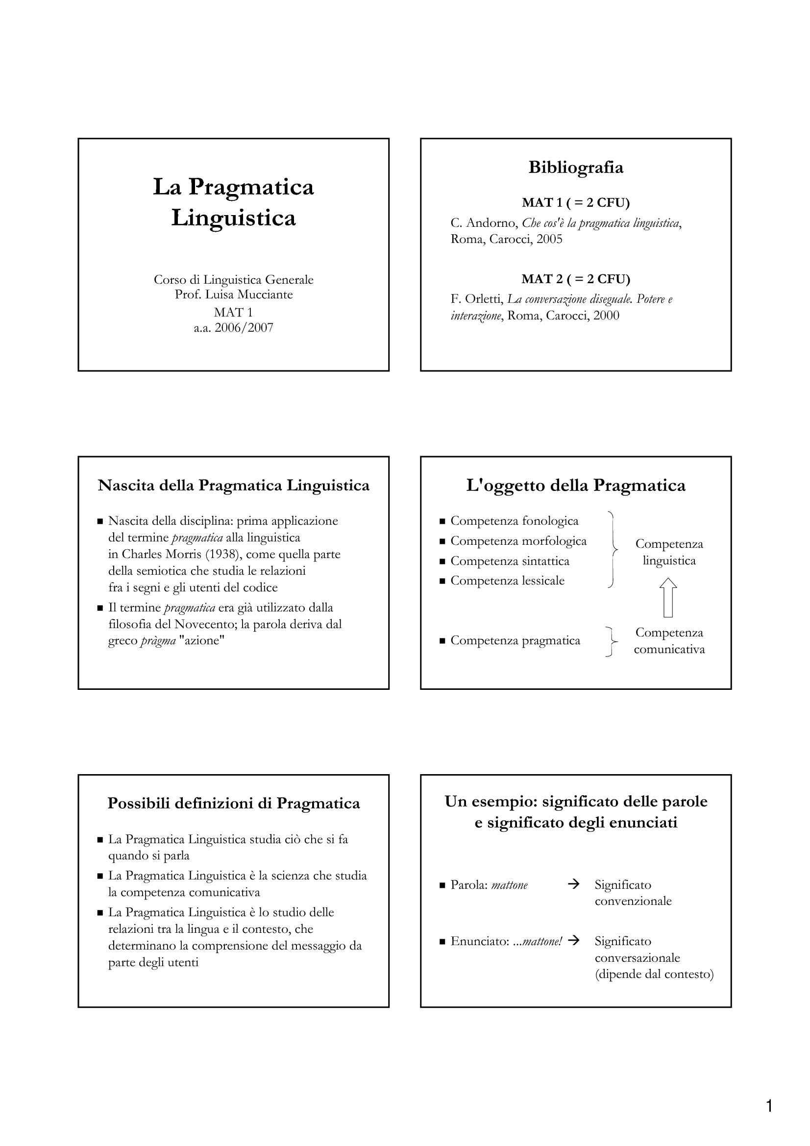 Pragmatica linguistica