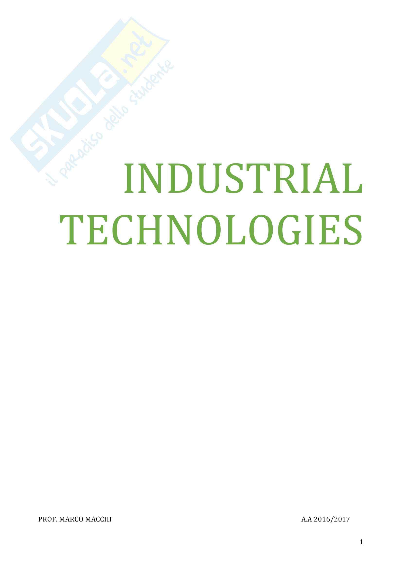 Industrial Technologies