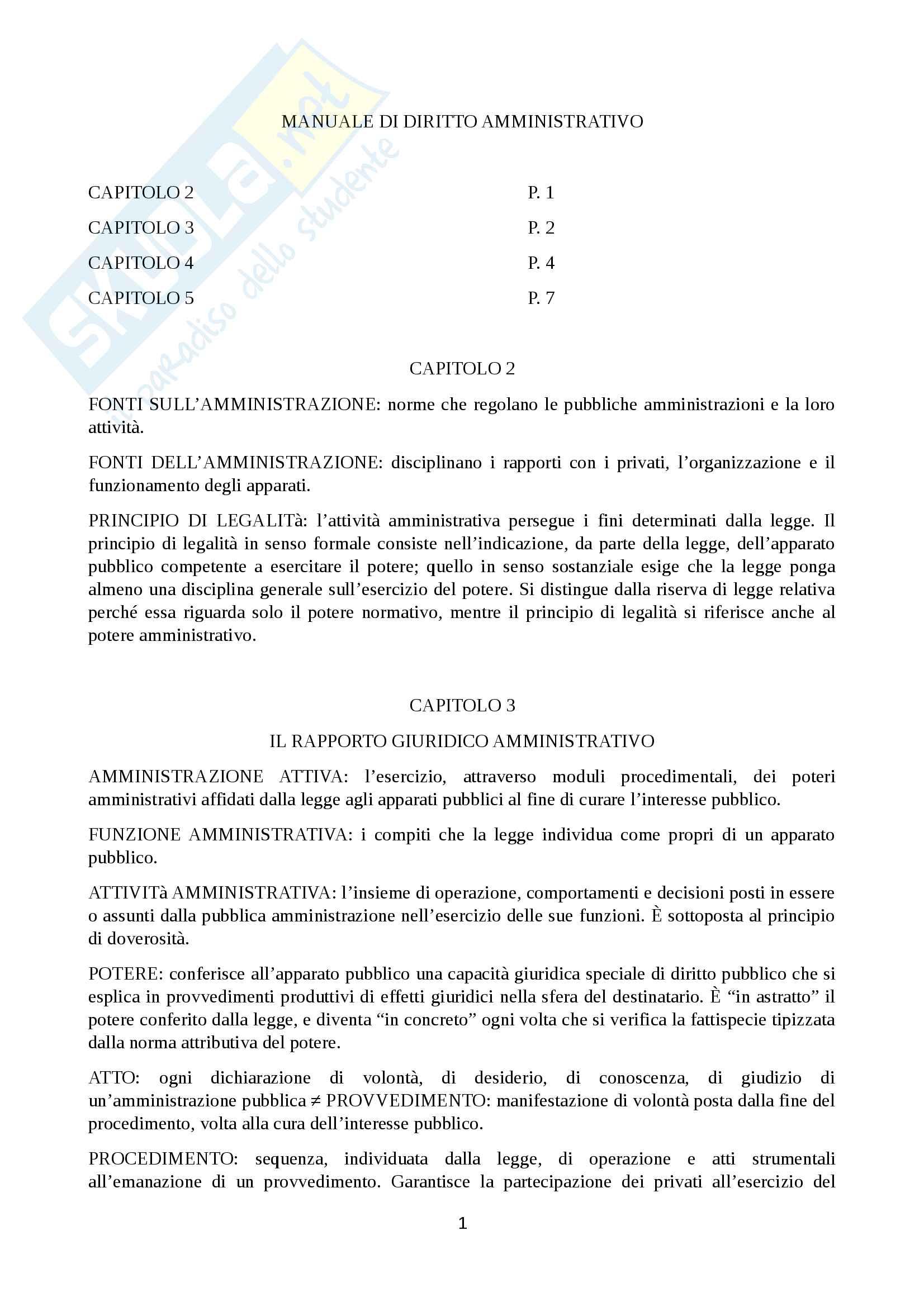 Riassunto principi di diritto pubblico e amministrativo, prof Martines, libro consigliato Manuale di diritto amministrativo, Clarich