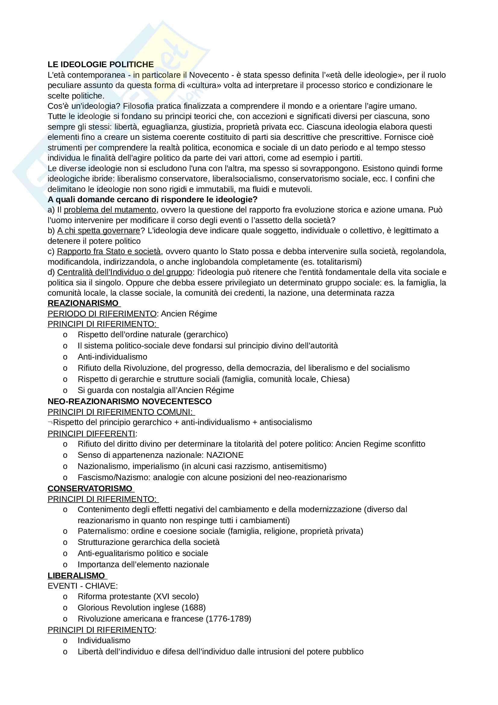 Riassunto esame Storia Contemporanea, prof Guazzaloca, libro consigliato Storia contemporanea. Dal XIX al XXI secolo, Cammarano, Guazzaloca, Piretti Pag. 2
