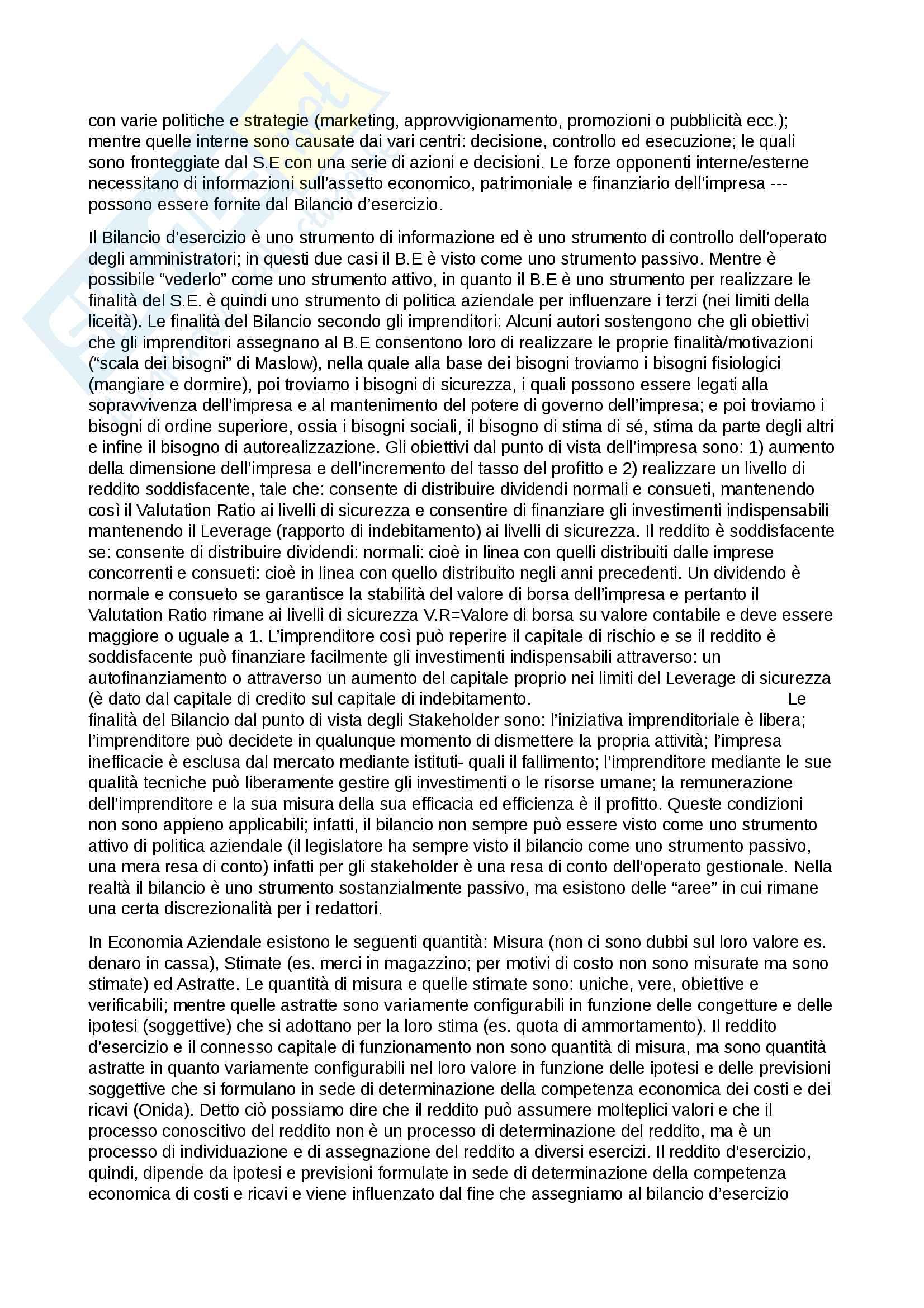 Appunti sintetici Bilancio Pag. 2