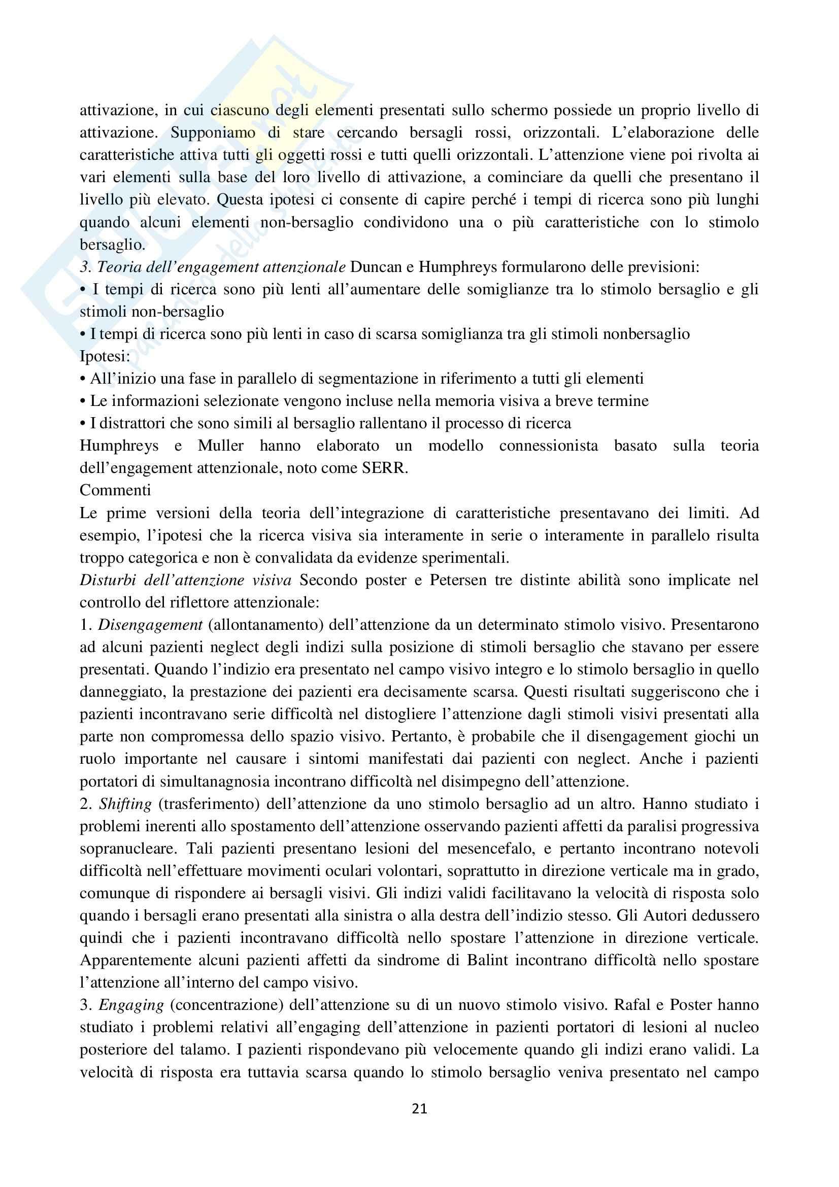 Riassunto esame Psicologia cognitiva, prof. Velardi, libro consigliato Psicologia cognitiva di Eysenck, Keane Pag. 21