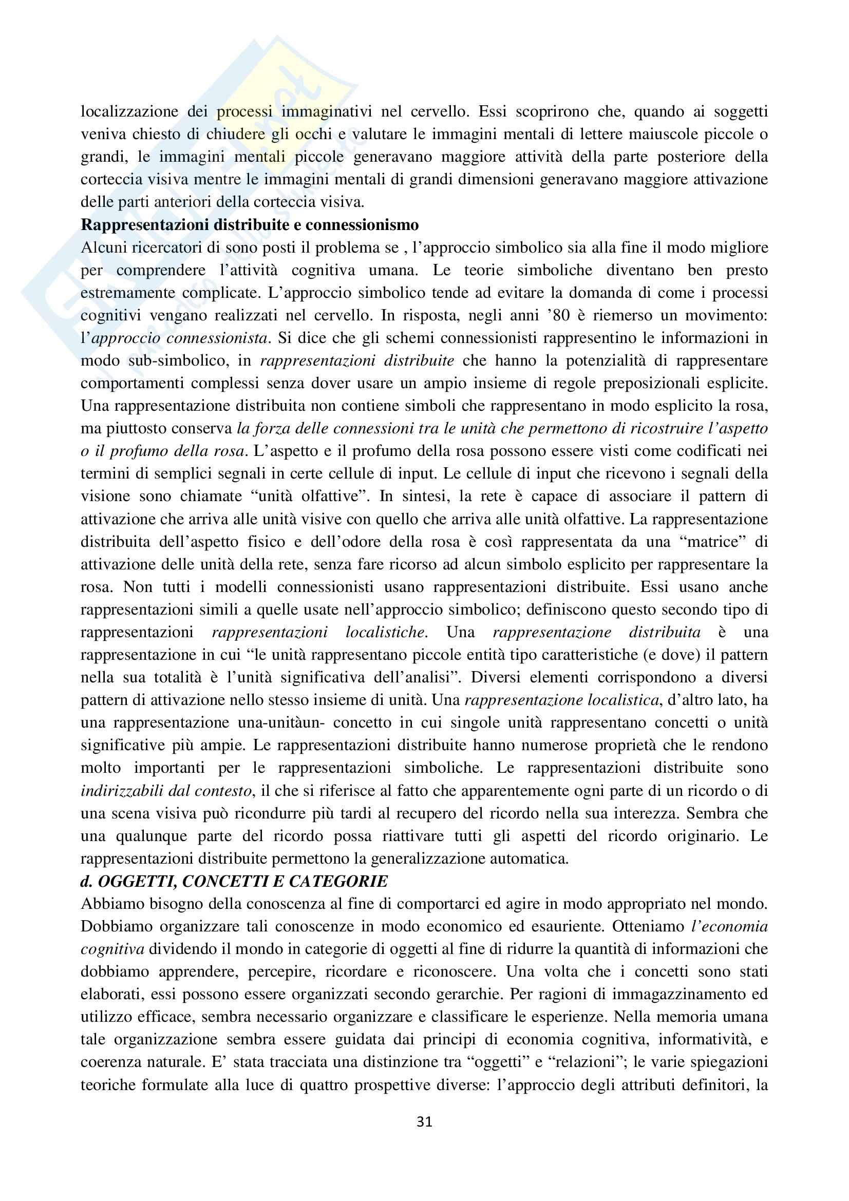 Riassunto esame Psicologia cognitiva, prof. Velardi, libro consigliato Psicologia cognitiva di Eysenck, Keane Pag. 31