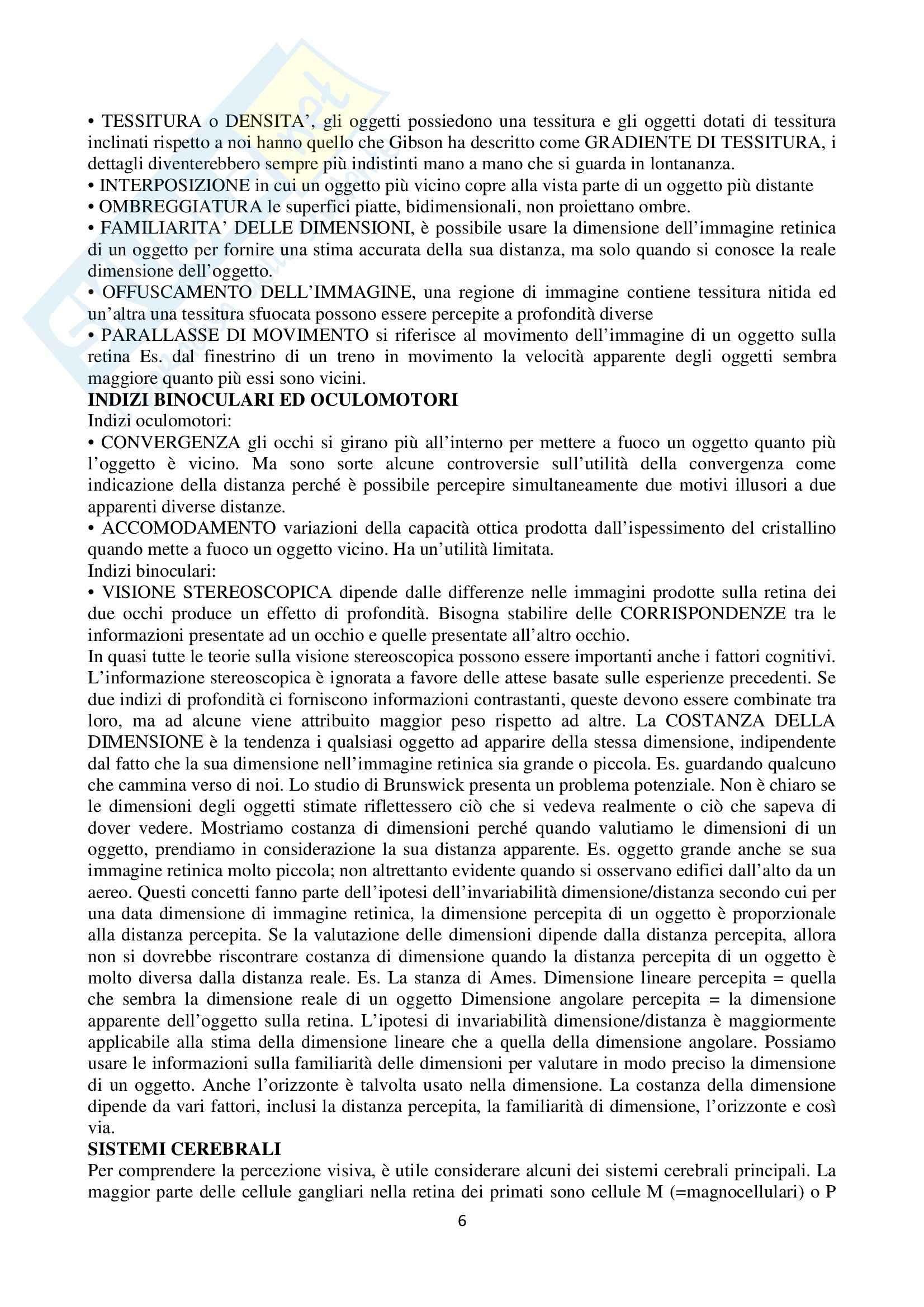 Riassunto esame Psicologia cognitiva, prof. Velardi, libro consigliato Psicologia cognitiva di Eysenck, Keane Pag. 6