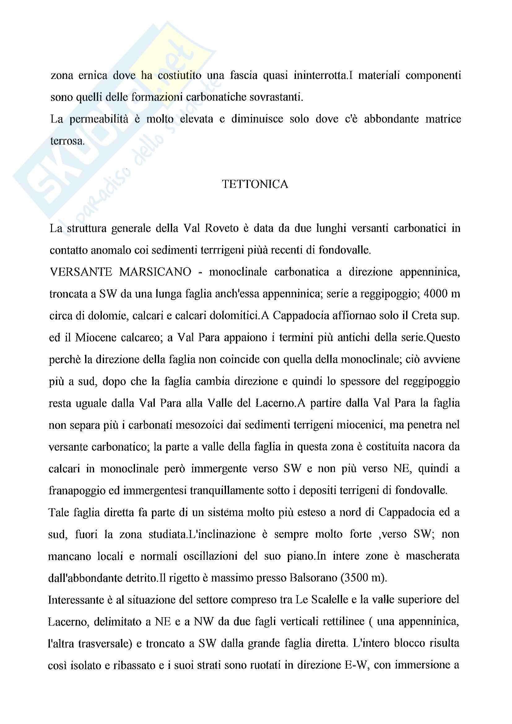 Riassunto esame Idrogeologia: Idrogeologia dell'Alto Bacino del Liri Accordi et Alii, prof. Petitta Pag. 11