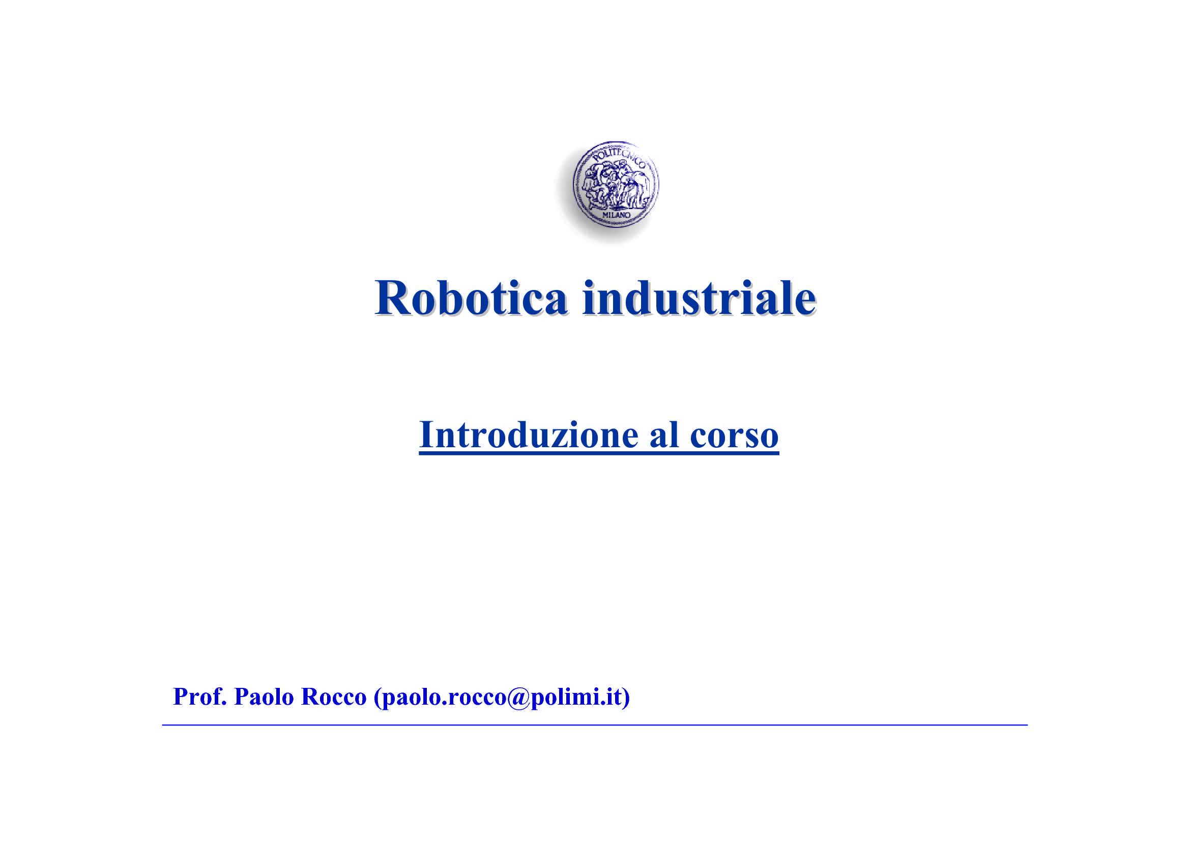 Robotica - Elementi introduttivi