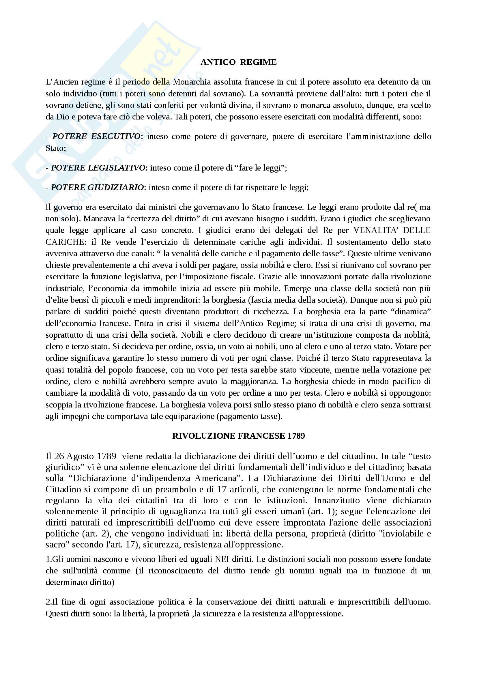 Storia delle istituzioni politiche 1° parte (perfetto per 1° prova intercorso)