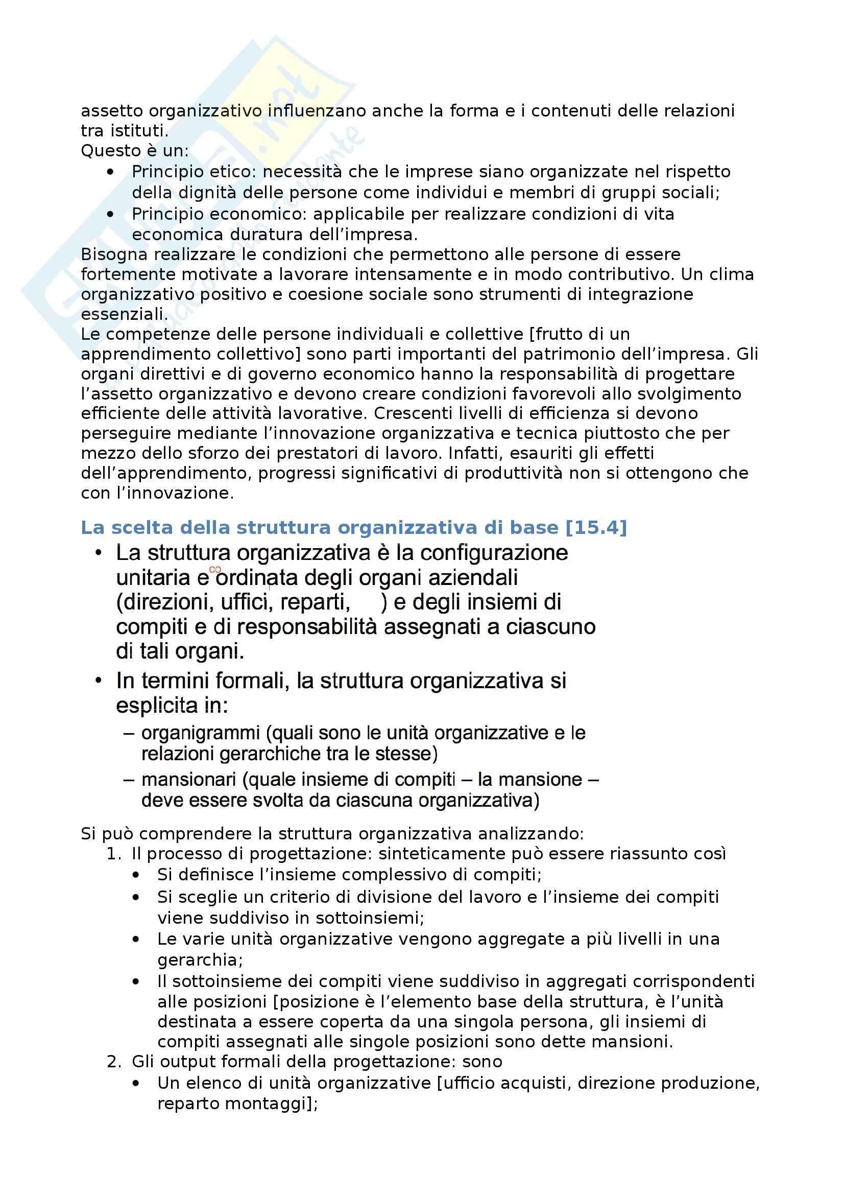 Riassunto esame Economia aziendale, prof. Roca, libro consigliato Assetto organizzativo, Airoldi, Brunetti, Coda Pag. 6
