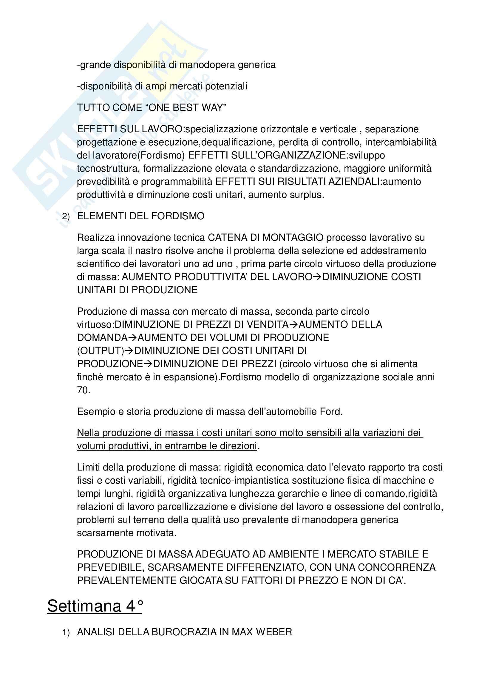 Riassunto esame Sociologia economica, prof. Ballarino, libro consigliato Sociologia economica e dell'organizzazione, Bonazzi Pag. 6