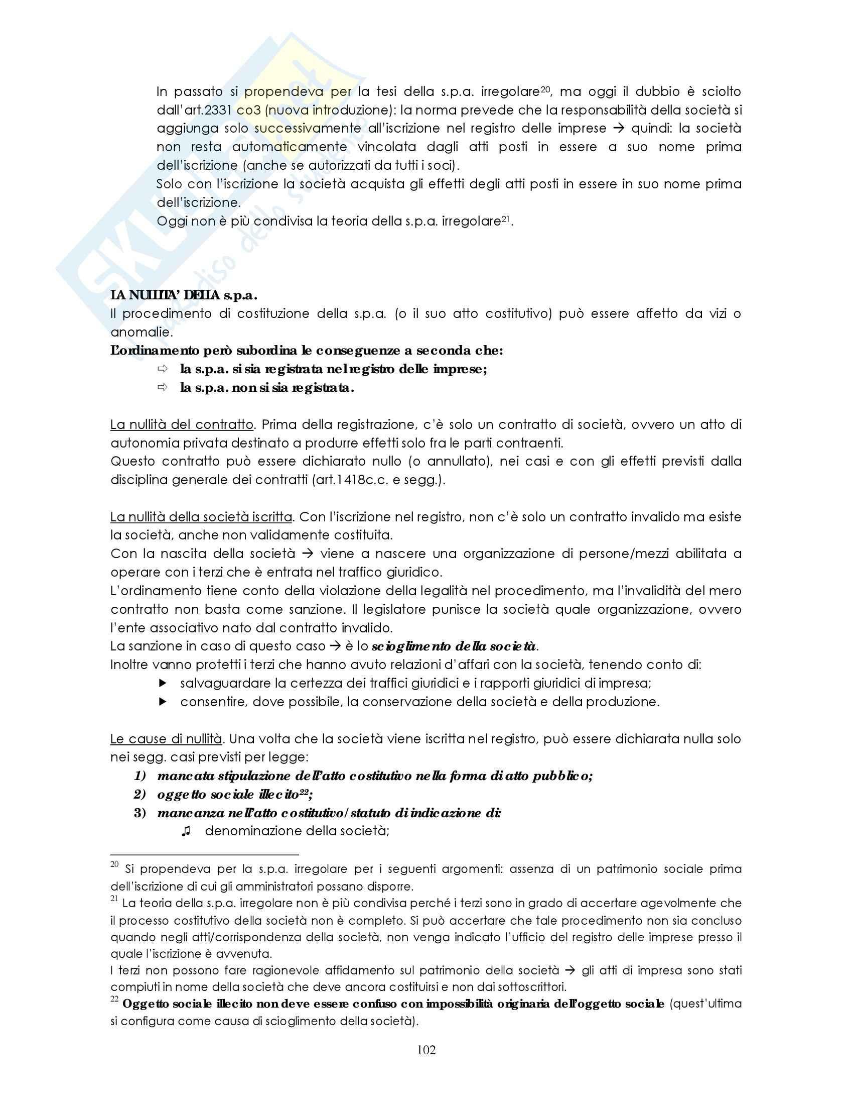 Riassunto esame Diritto commerciale, prof. Weigmann, libro consigliato Manuale di diritto commerciale, Campobasso: società di persone Pag. 11