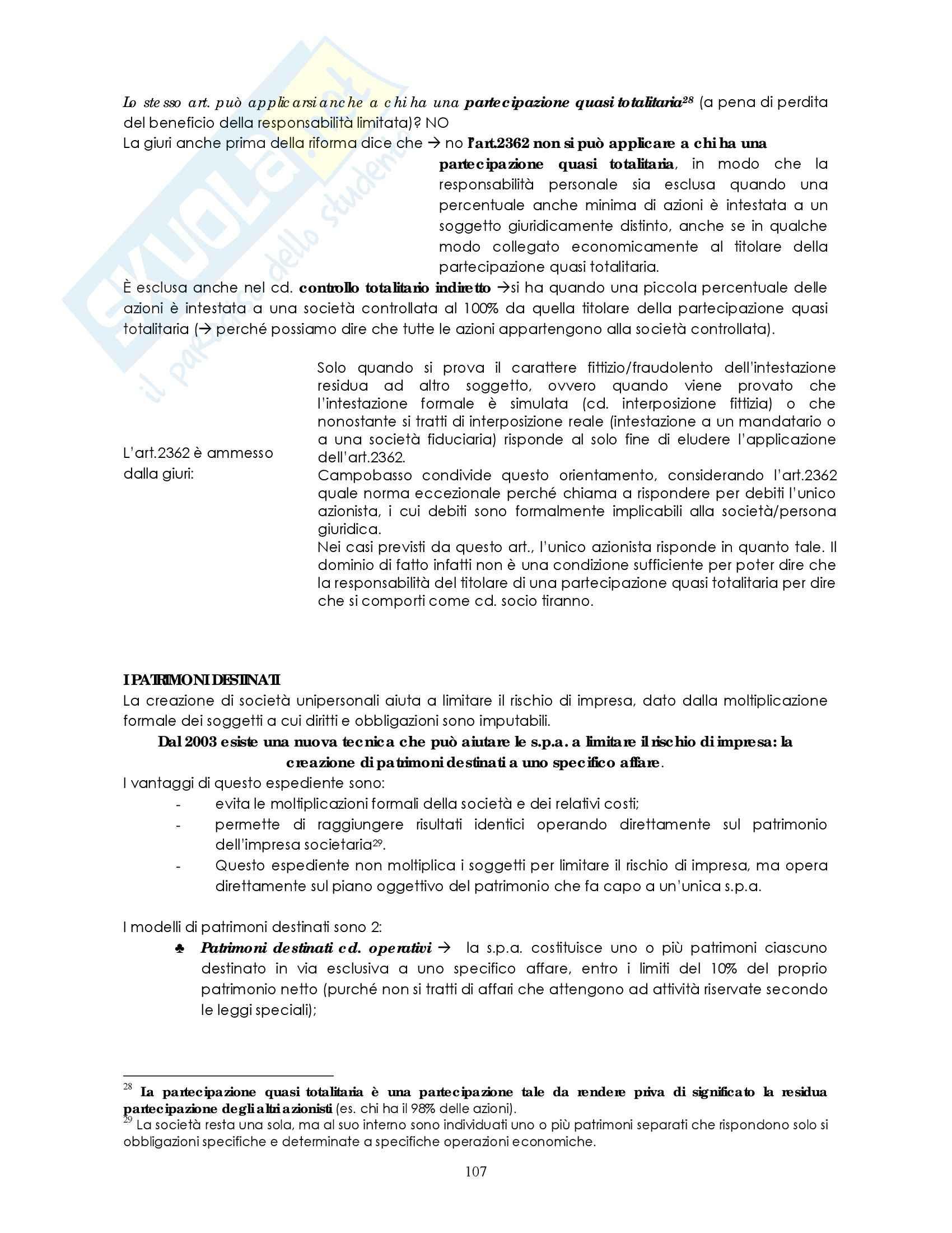 Riassunto esame Diritto commerciale, prof. Weigmann, libro consigliato Manuale di diritto commerciale, Campobasso: società di persone Pag. 16