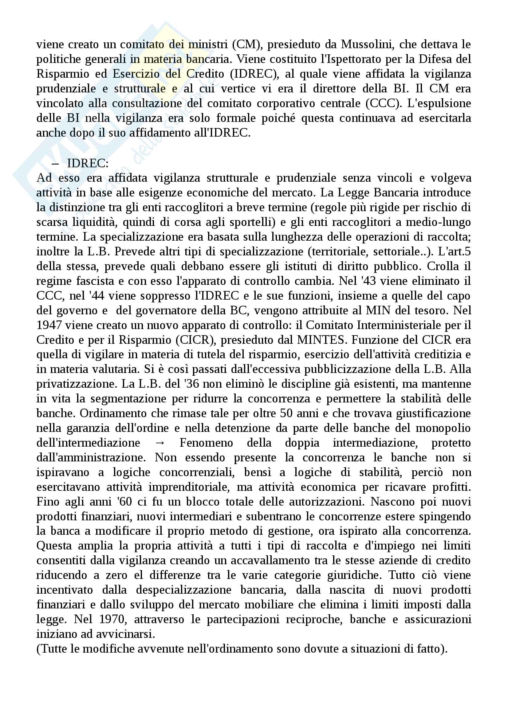 Legislazione e diritto bancario Pag. 6