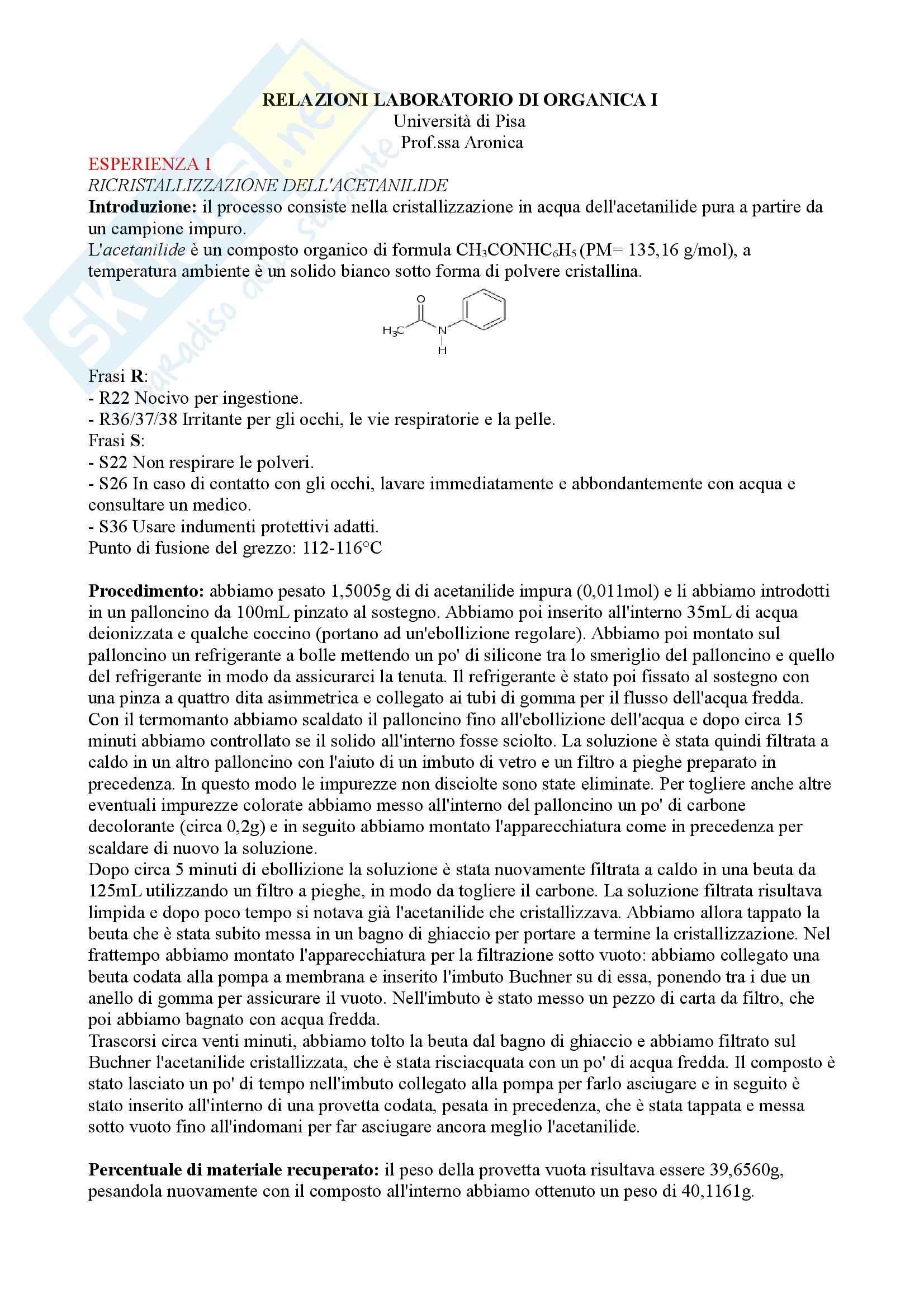 appunto L. Aronica Laboratorio di Chimica Organica I