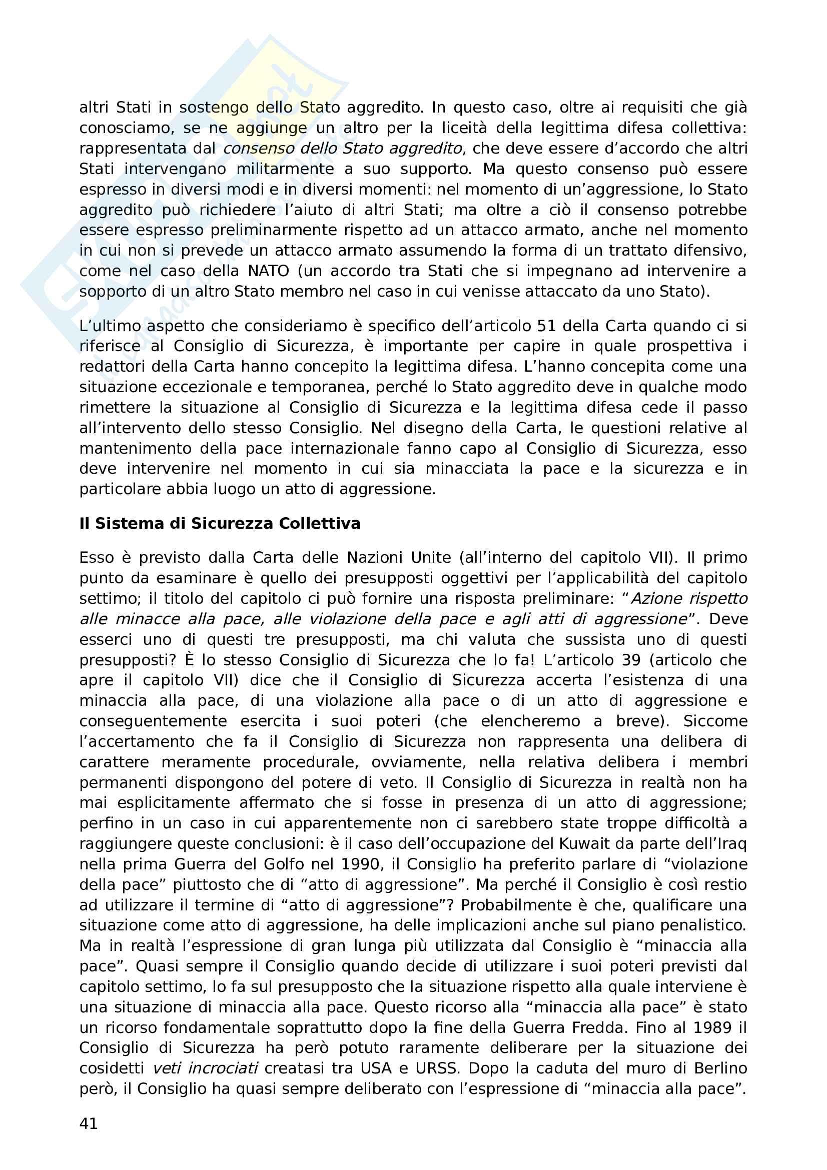 Appunti di Diritto Internazionale Pag. 41