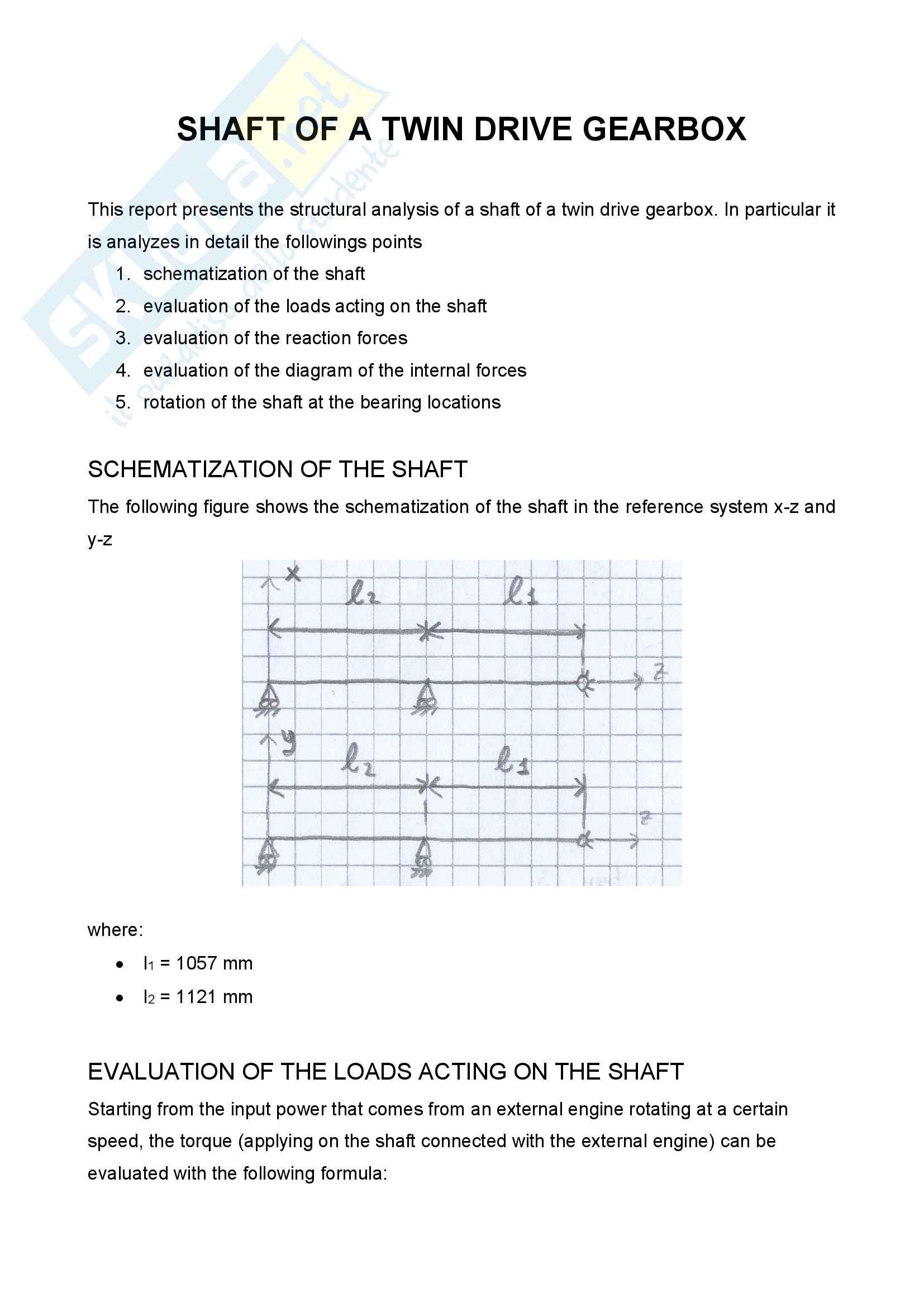 Machine design 2 - Relazioni Pag. 1