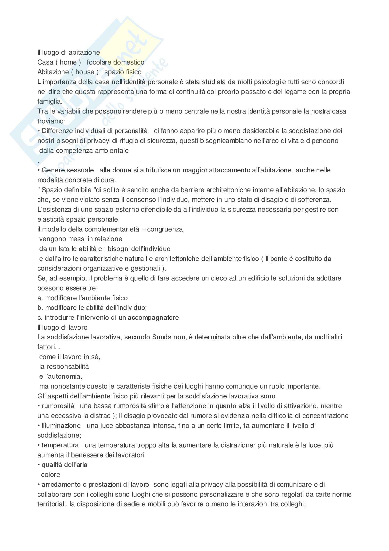 Psicologia ambientale - metodi della psicologia ambientale Pag. 21