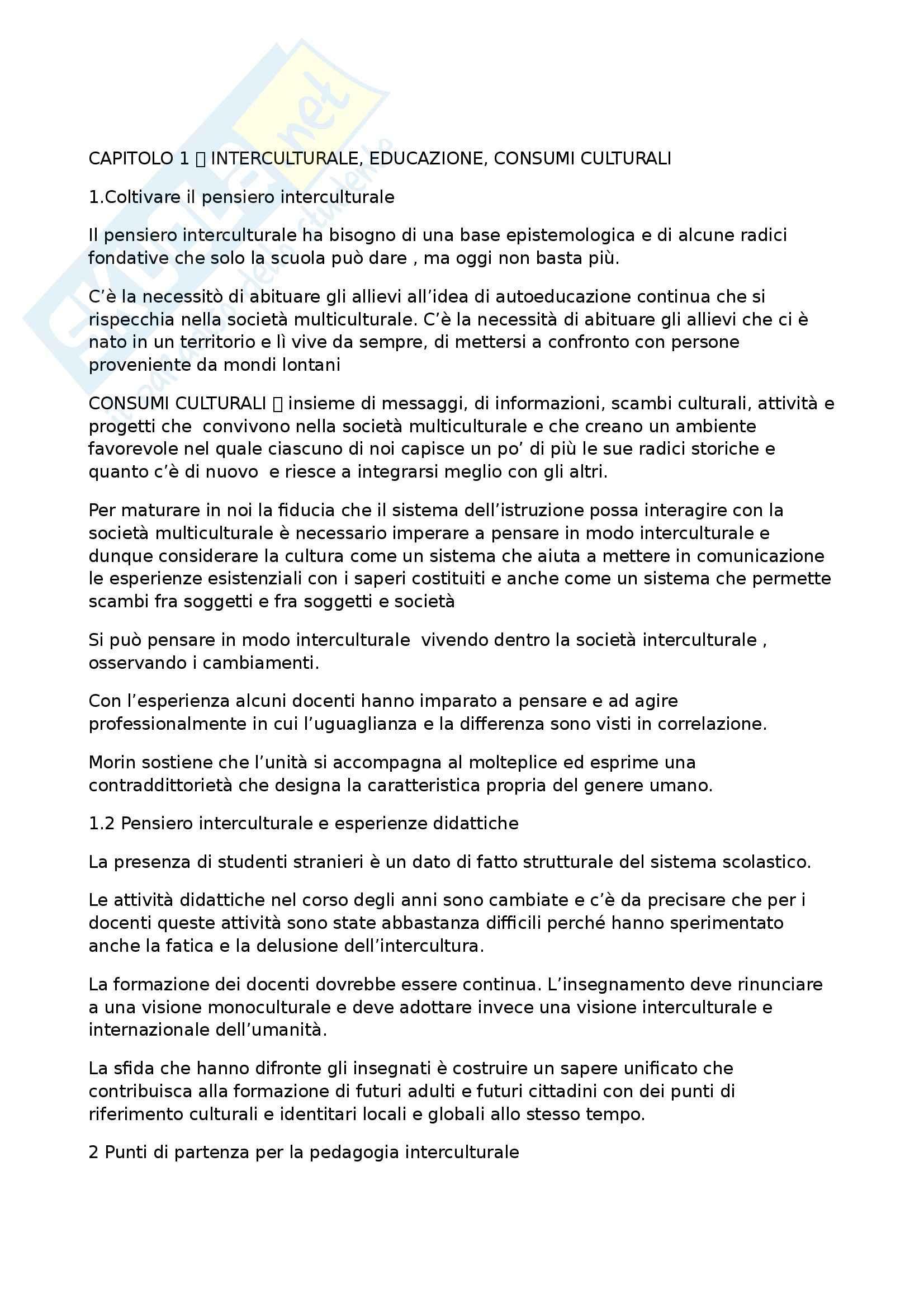 appunto M. Giusti Pedagogia interculturale