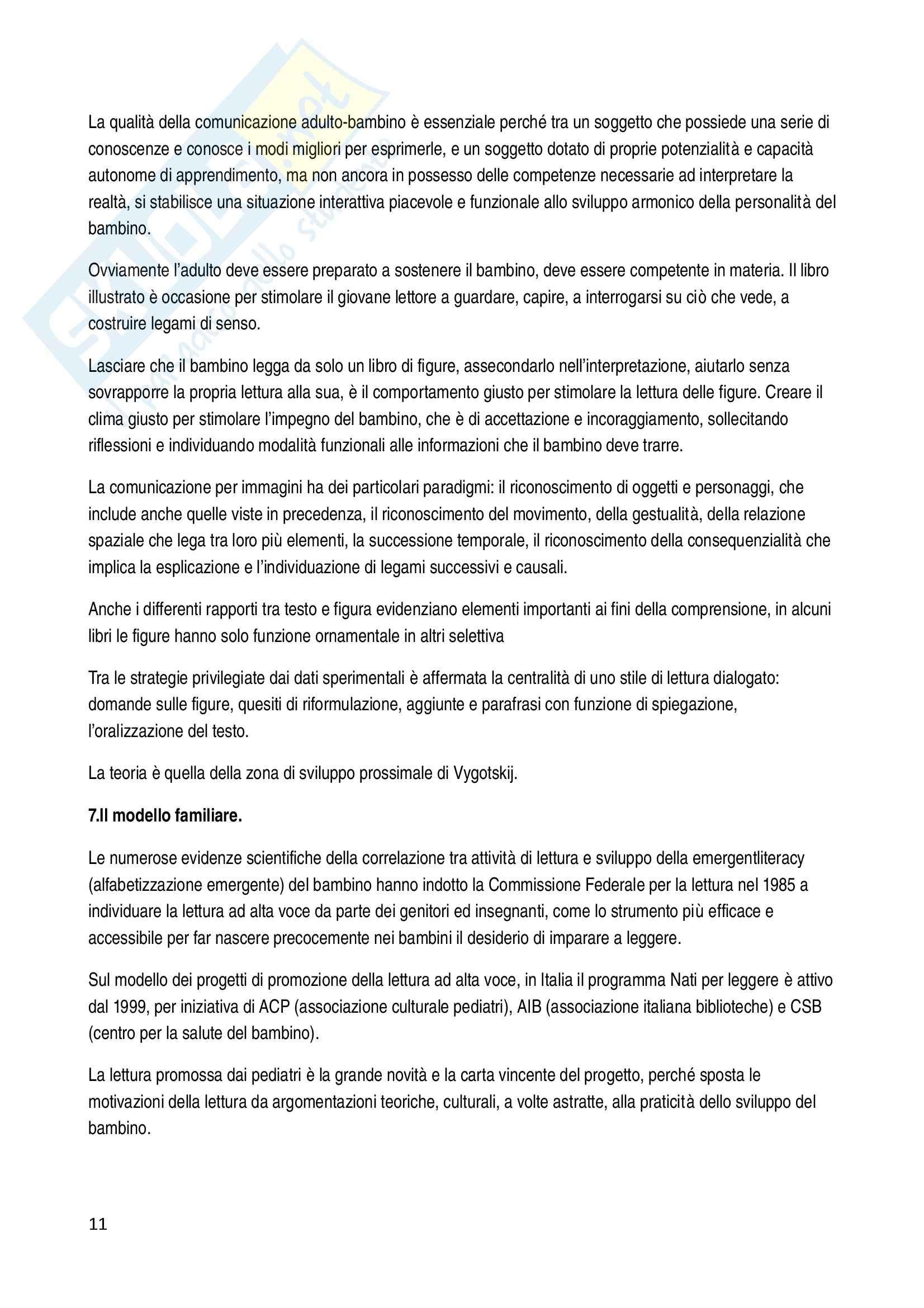 Riassunto esame Letteratura per l'infanzia, prof. Filograsso, libro consigliato Lettori nella rete Pag. 11