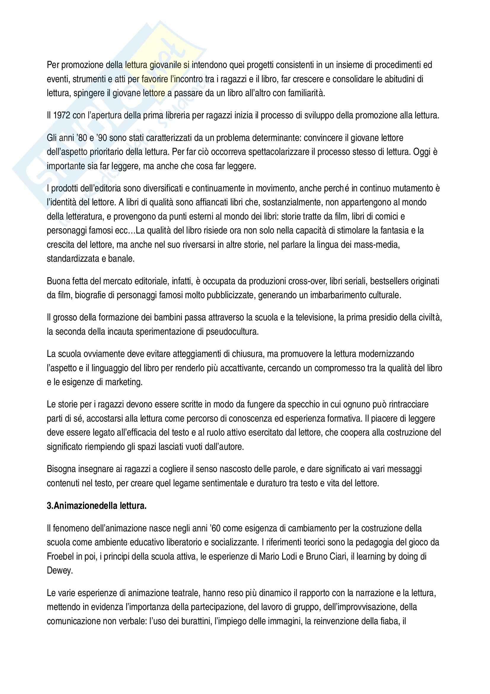 Riassunto esame Letteratura per l'infanzia, prof. Filograsso, libro consigliato Lettori nella rete Pag. 6