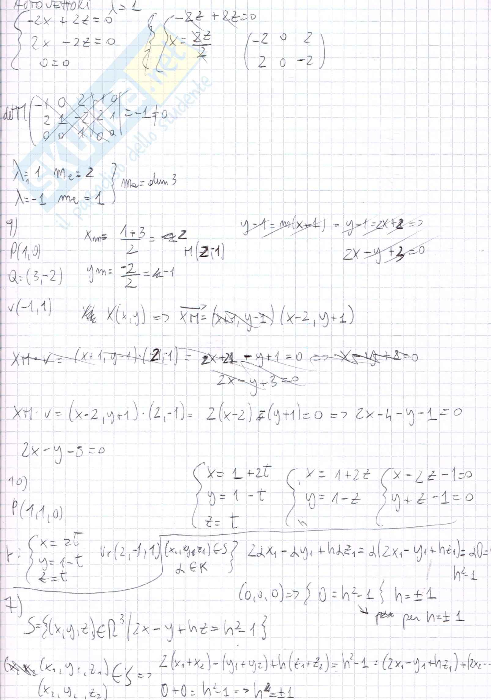 Esercizi, Algebra lineare e geometria Pag. 21