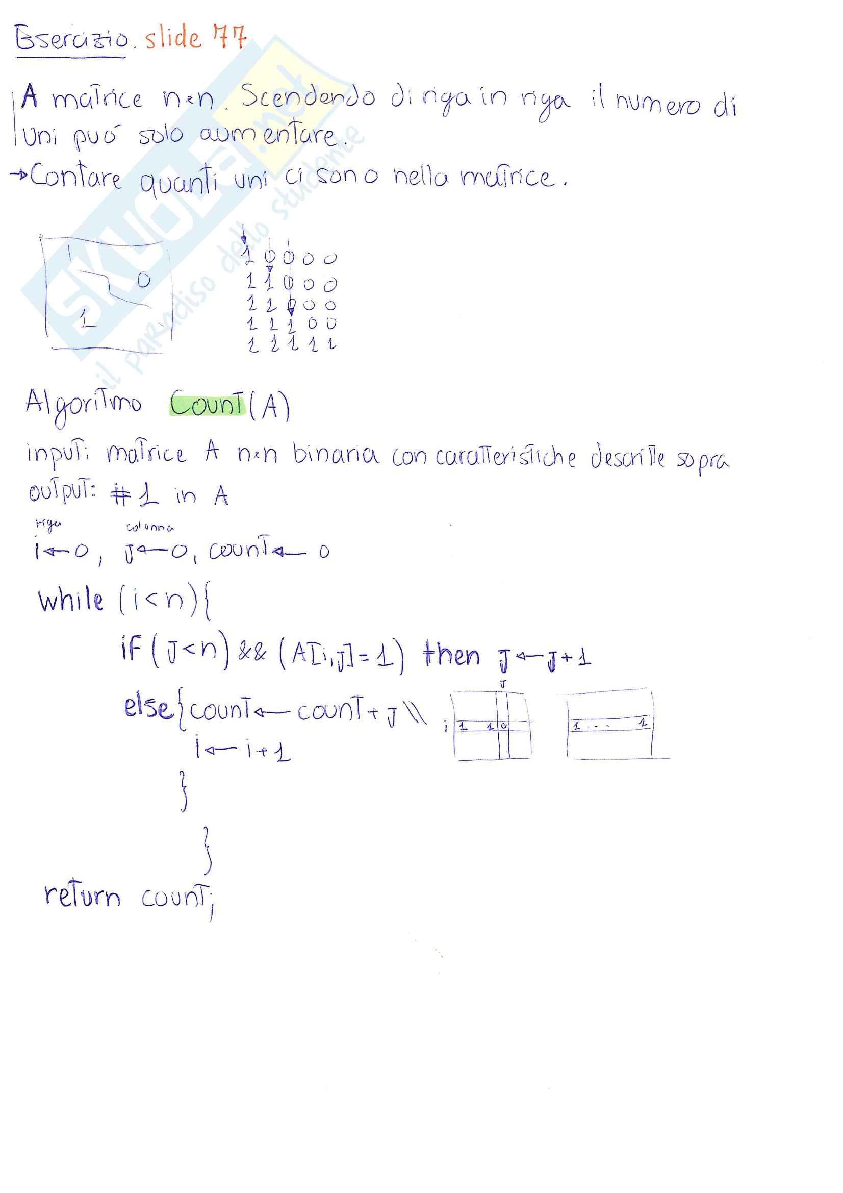 Dati e Algoritmi 1 - appunti essenziali ed esercizi Pag. 11
