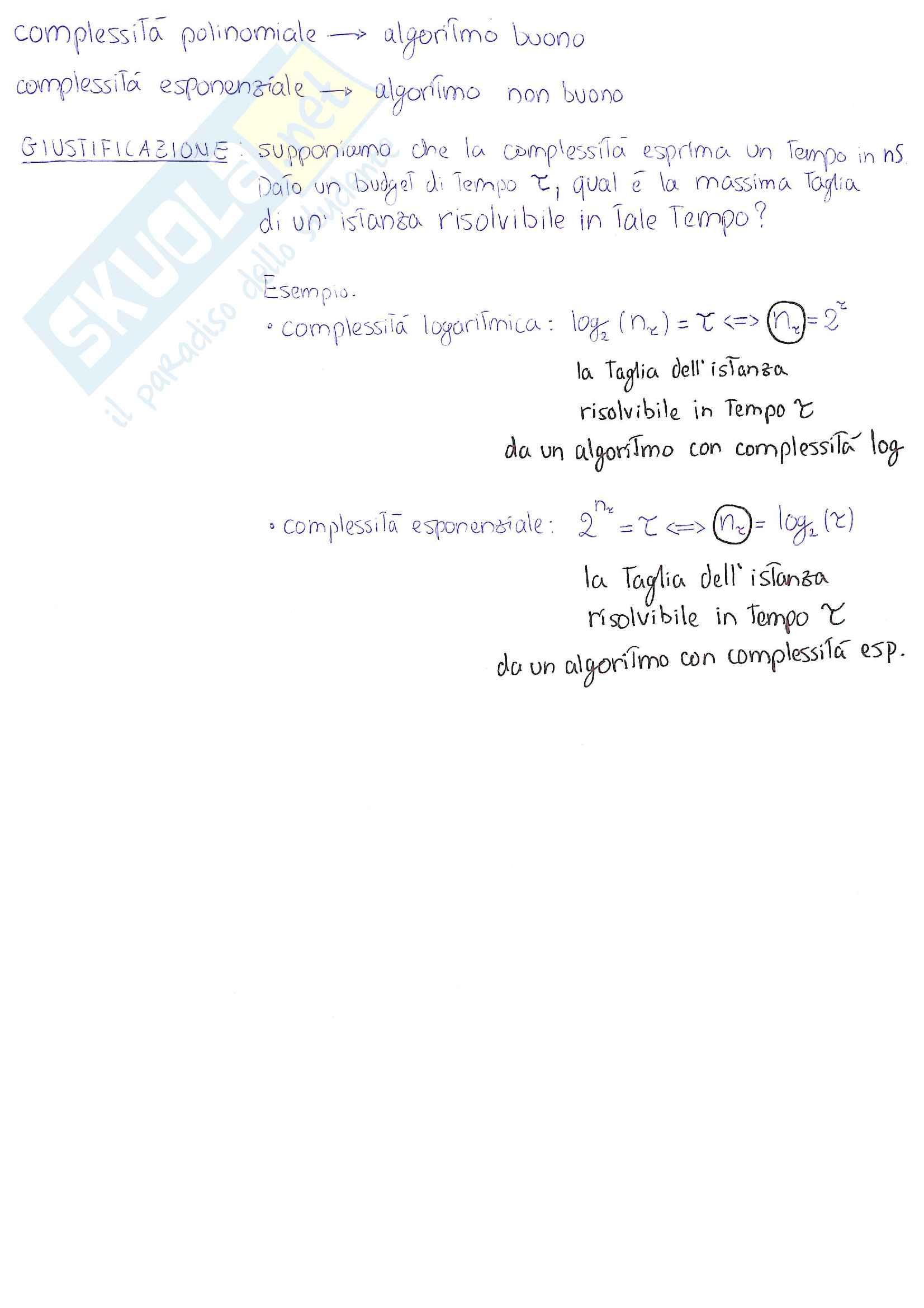 Dati e Algoritmi 1 - appunti essenziali ed esercizi Pag. 6