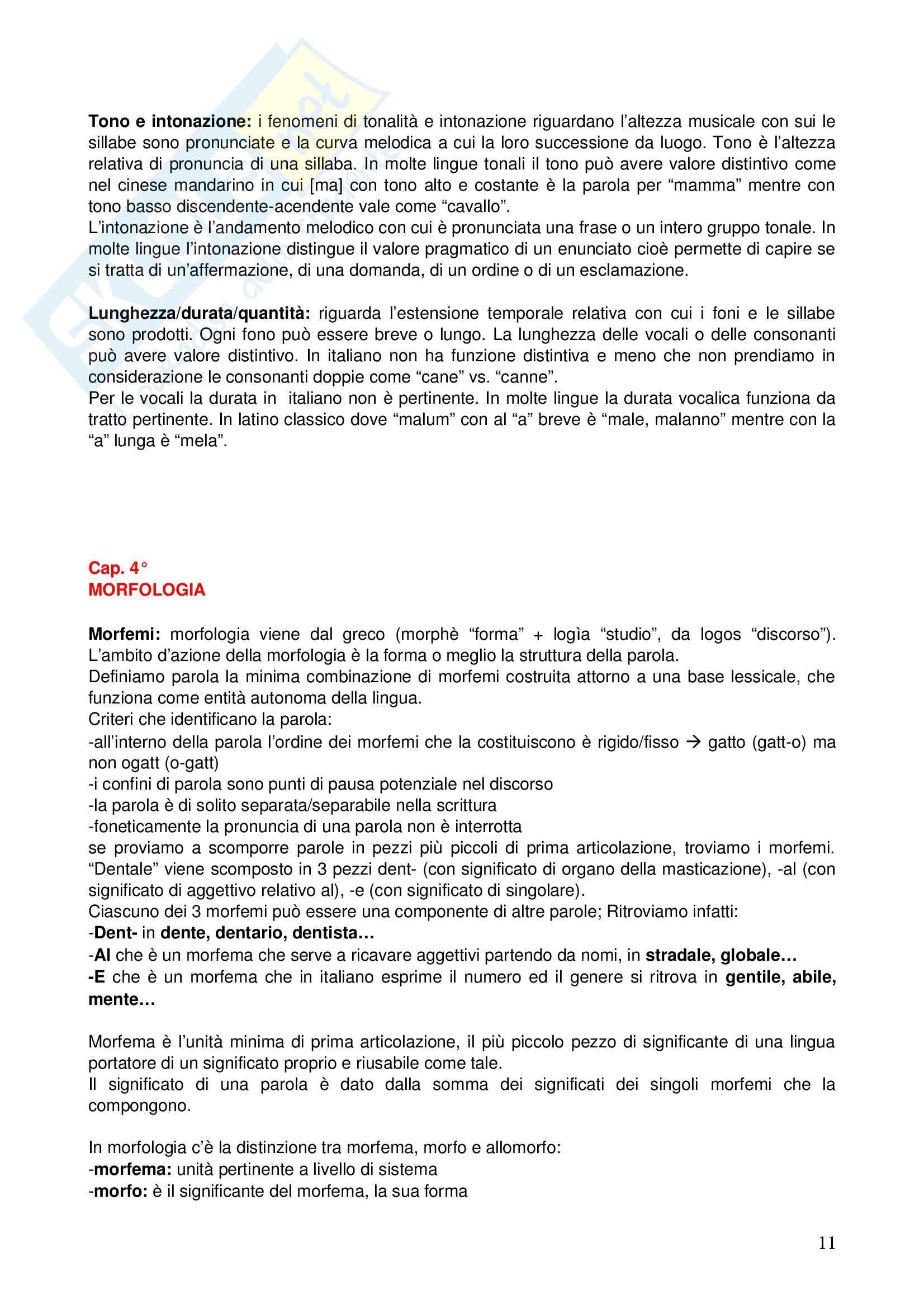Corso elementare di linguistica generale Pag. 11