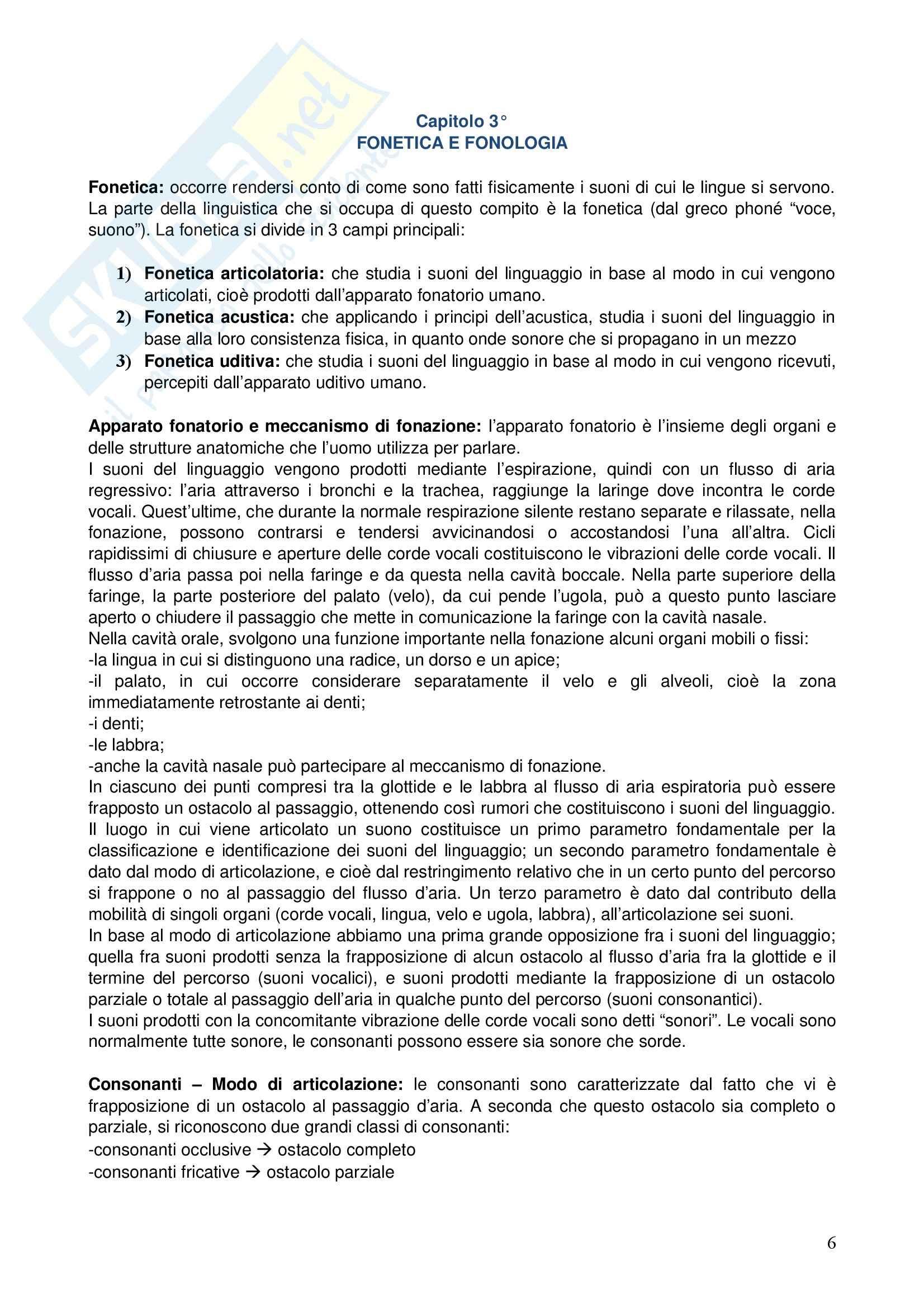 Corso elementare di linguistica generale Pag. 6