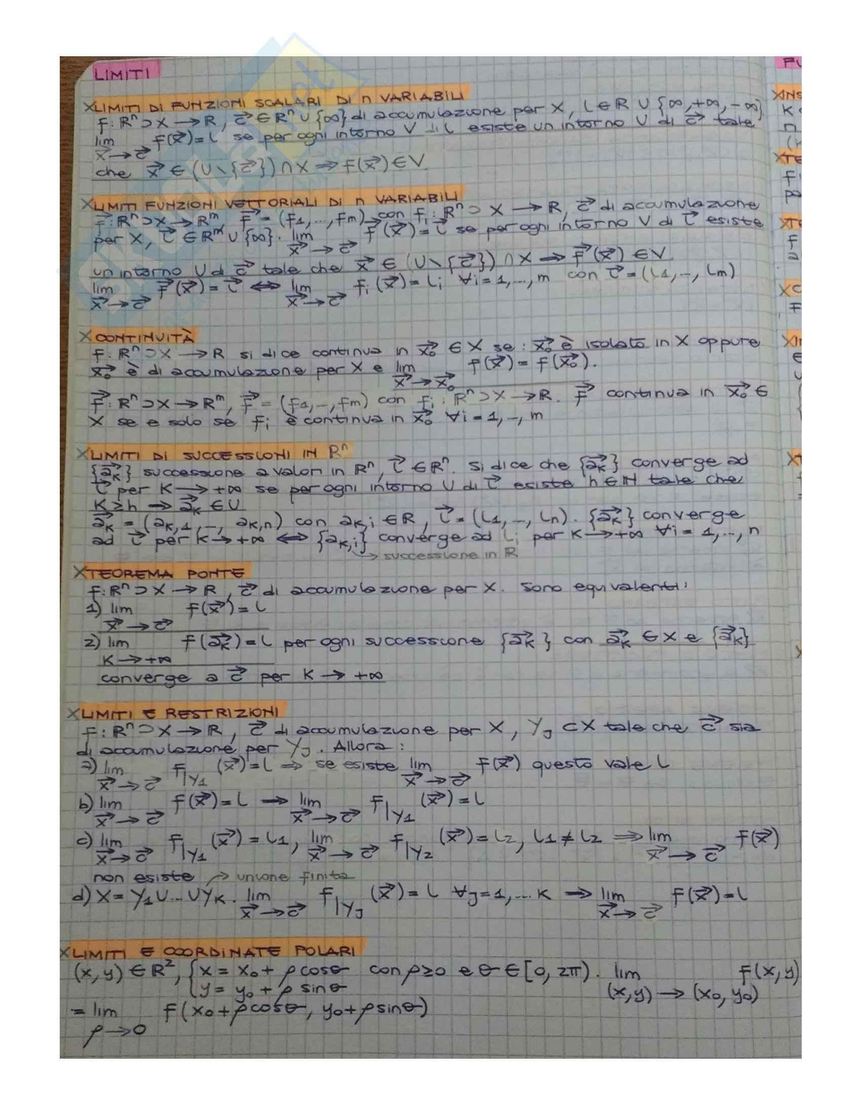 Analisi 2 (Riassunto Teoria) Pag. 2