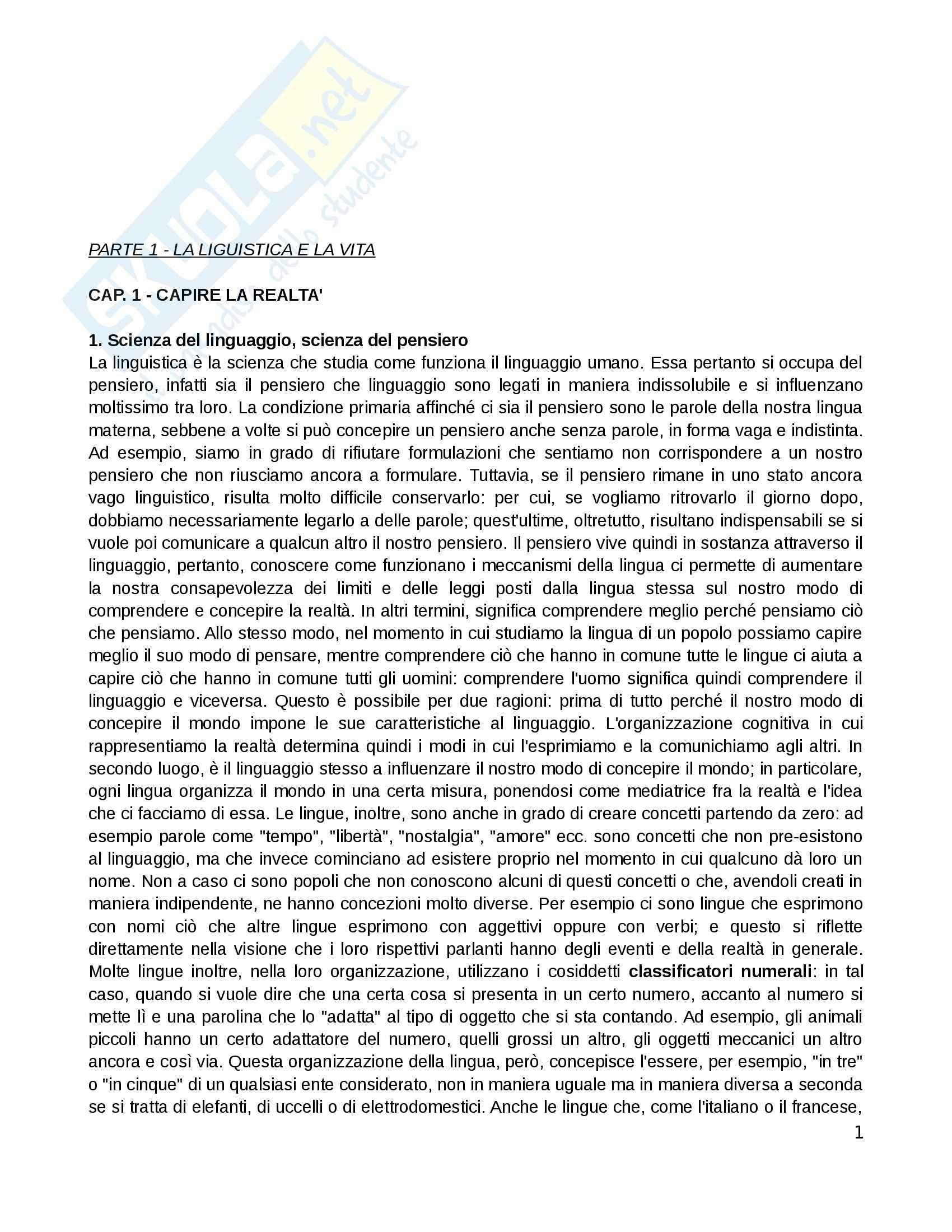 appunto P. Sorianello Linguistica generale